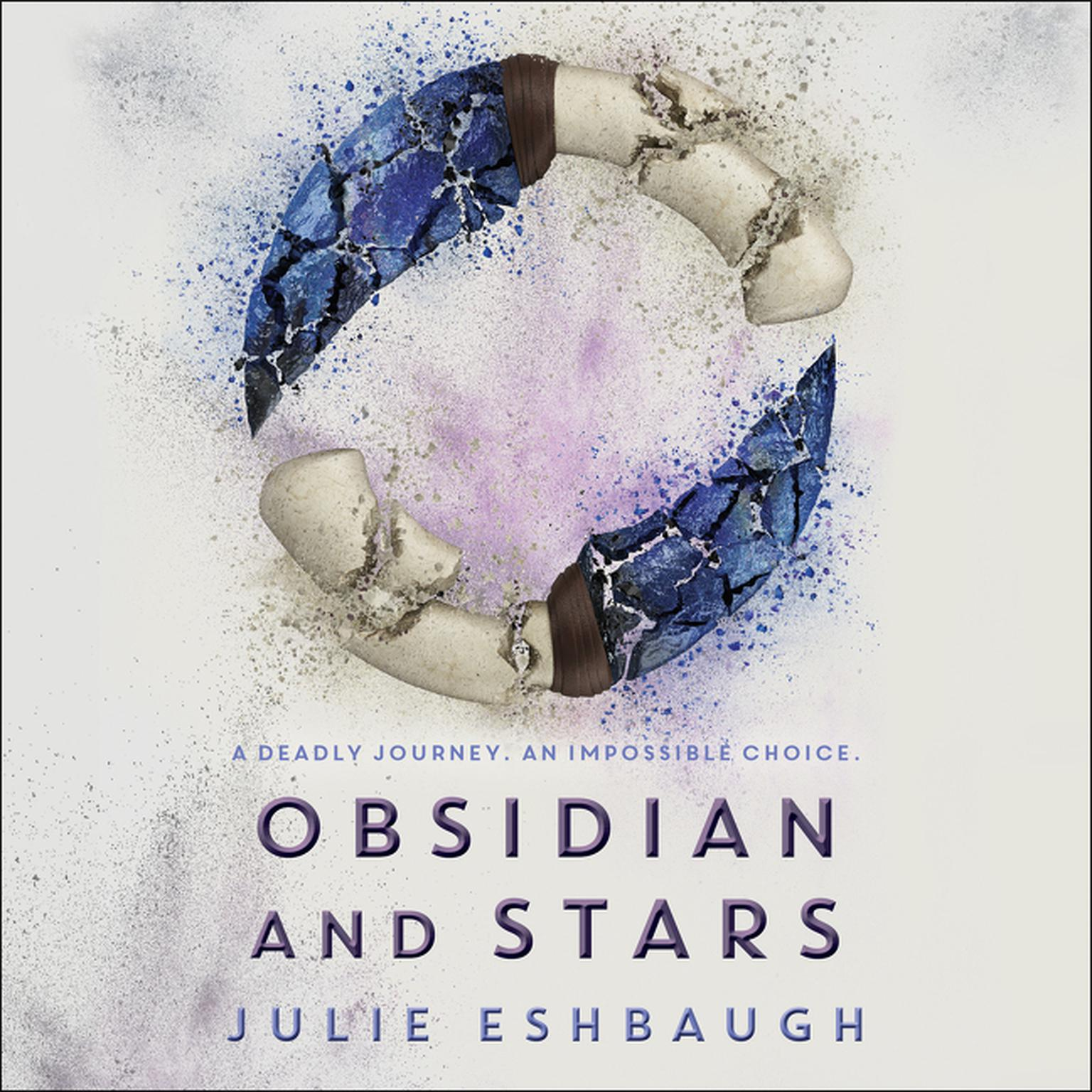 Printable Obsidian and Stars Audiobook Cover Art