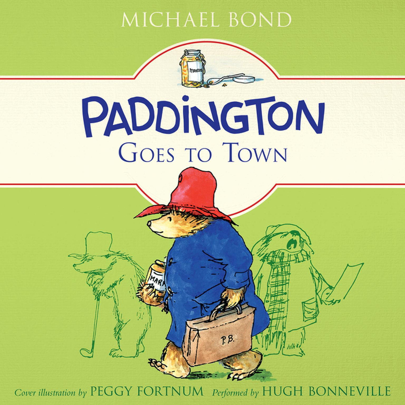 Printable Paddington Goes to Town Audiobook Cover Art