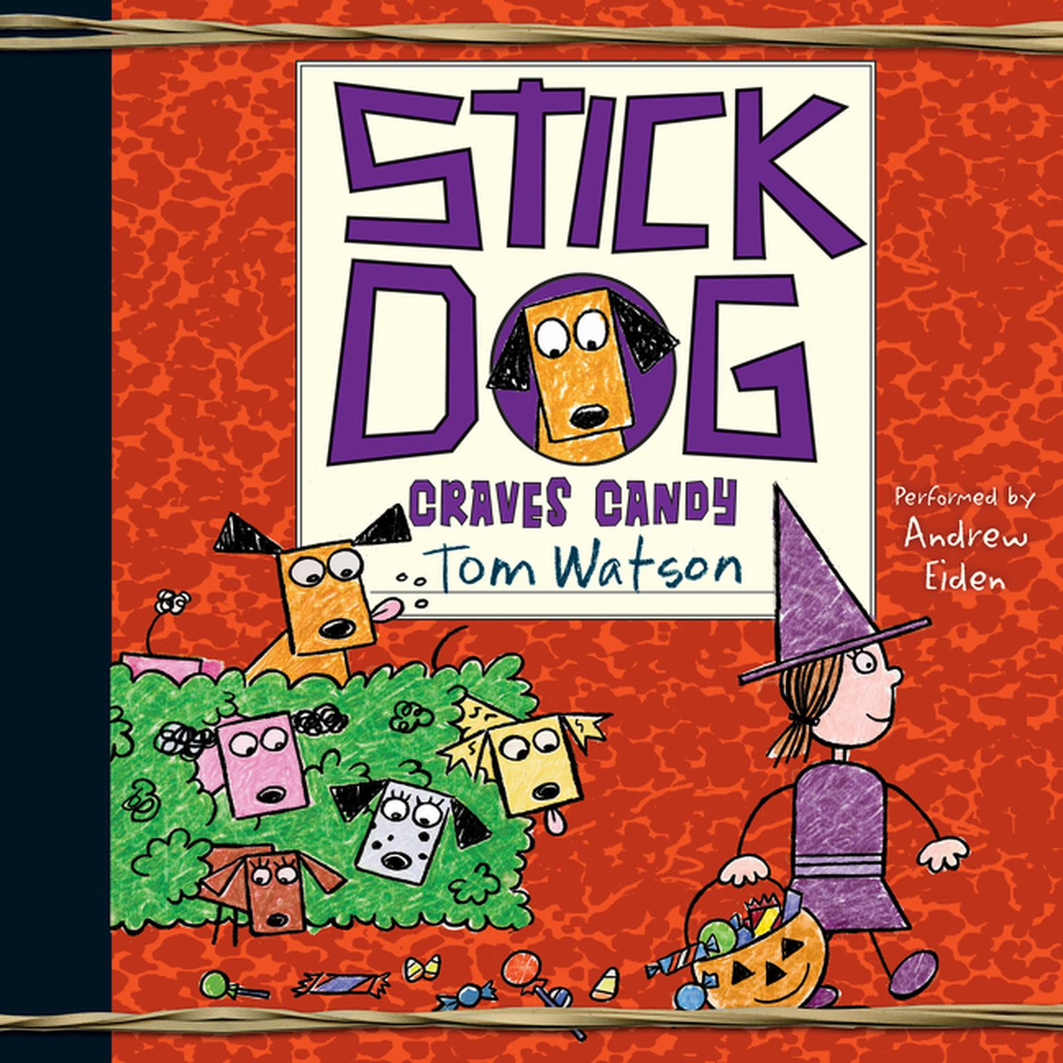 Printable Stick Dog Craves Candy Audiobook Cover Art