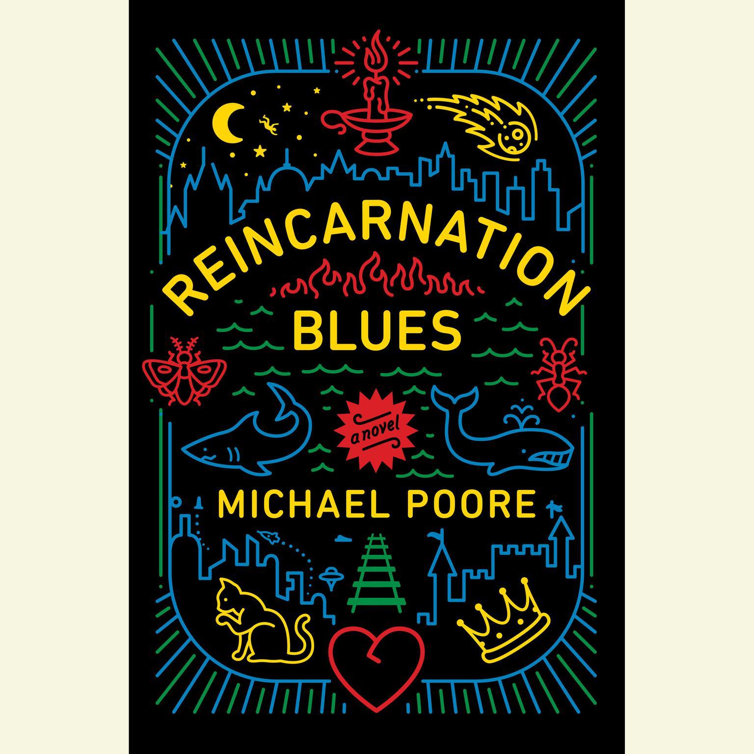 Printable Reincarnation Blues: A Novel Audiobook Cover Art