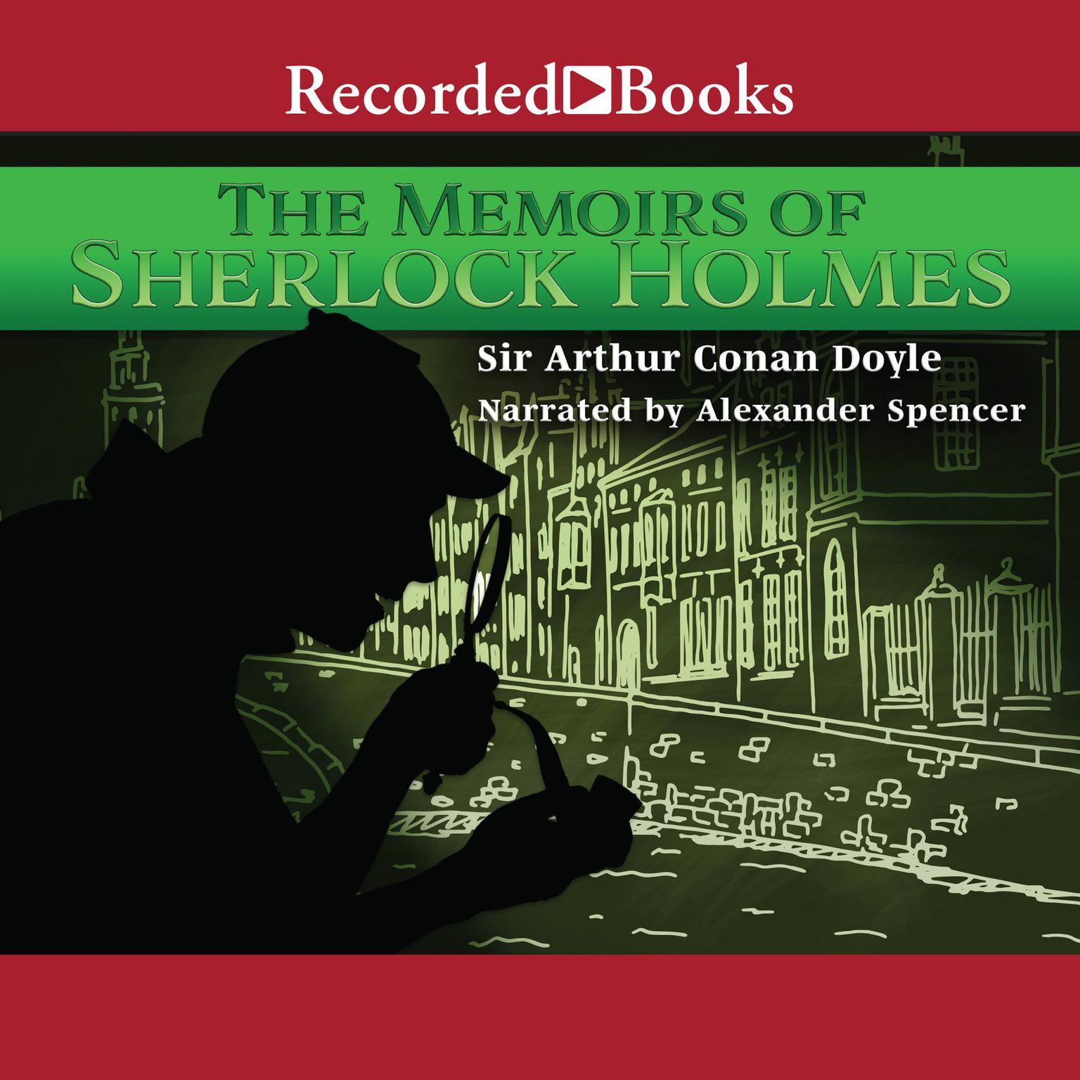 Printable The Memoirs of Sherlock Holmes Audiobook Cover Art
