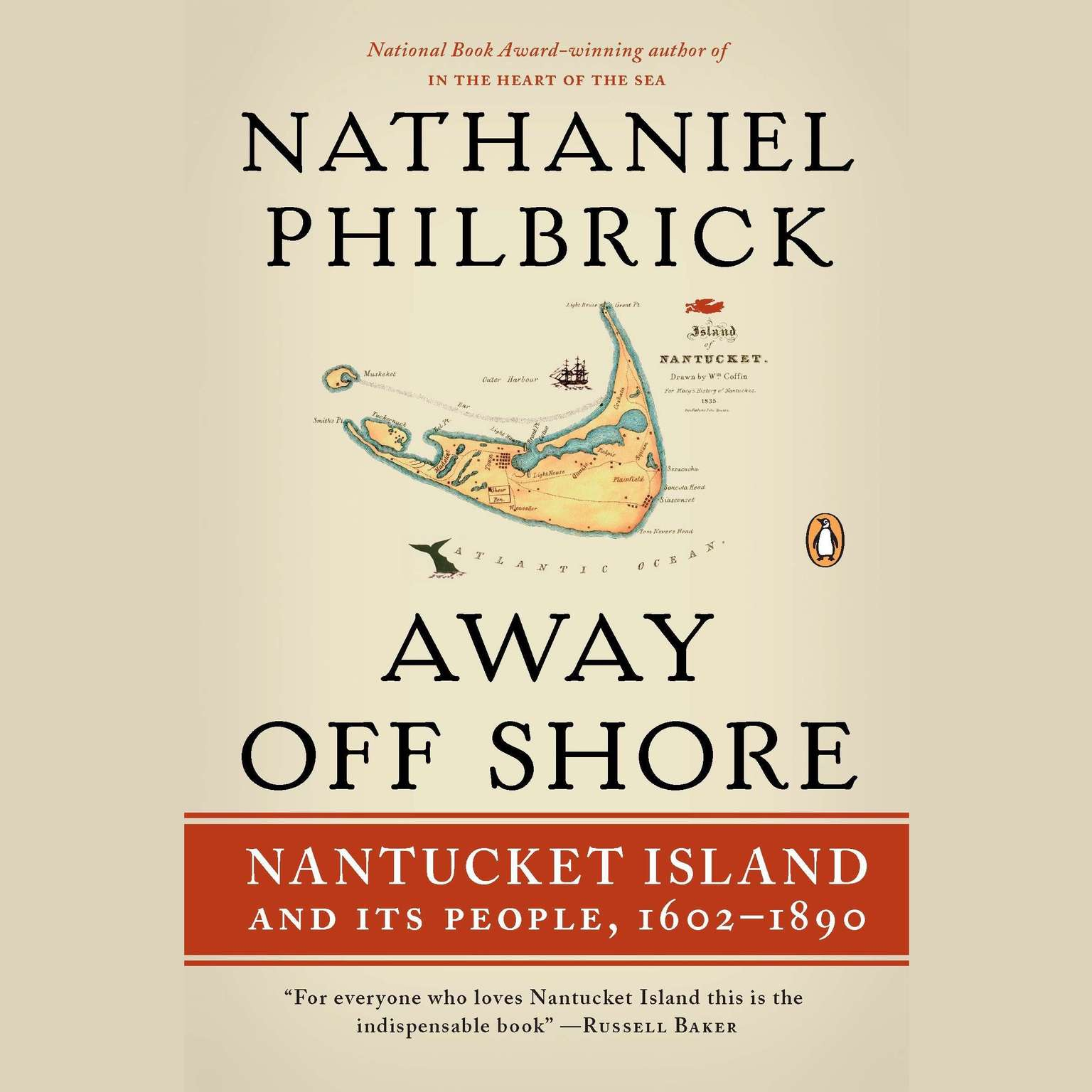 Printable Away Off Shore: Nantucket Island and Its People, 1602-1890 Audiobook Cover Art