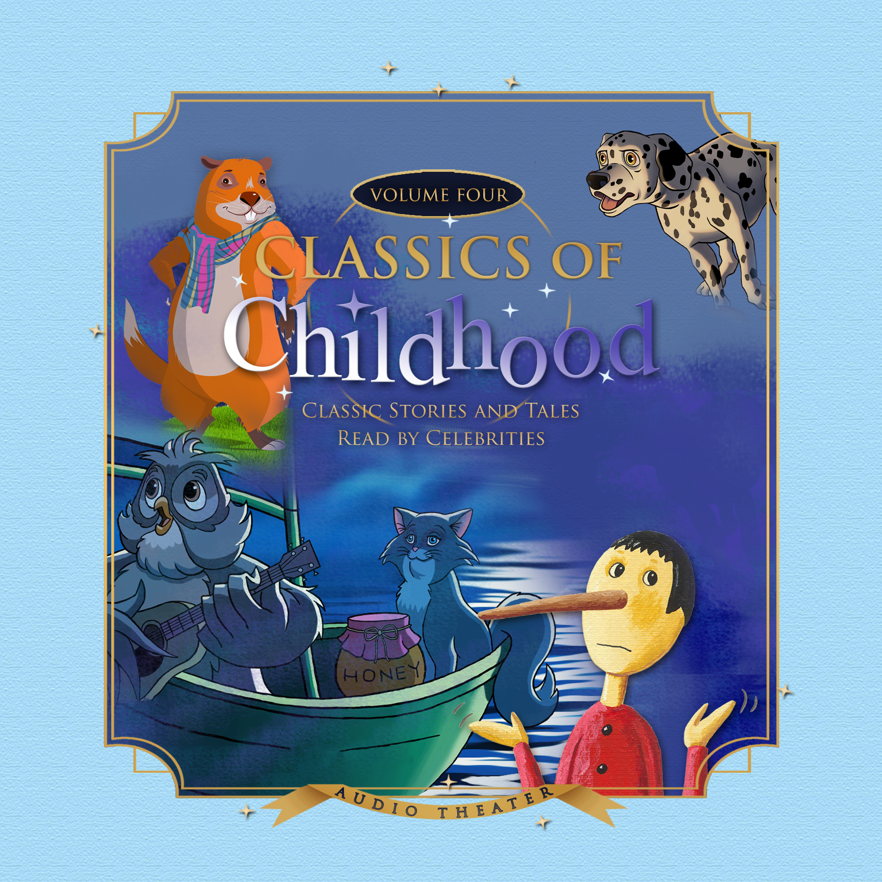 Printable Classics of Childhood, Vol. 4: Classic Stories and Tales Read by Celebrities Audiobook Cover Art