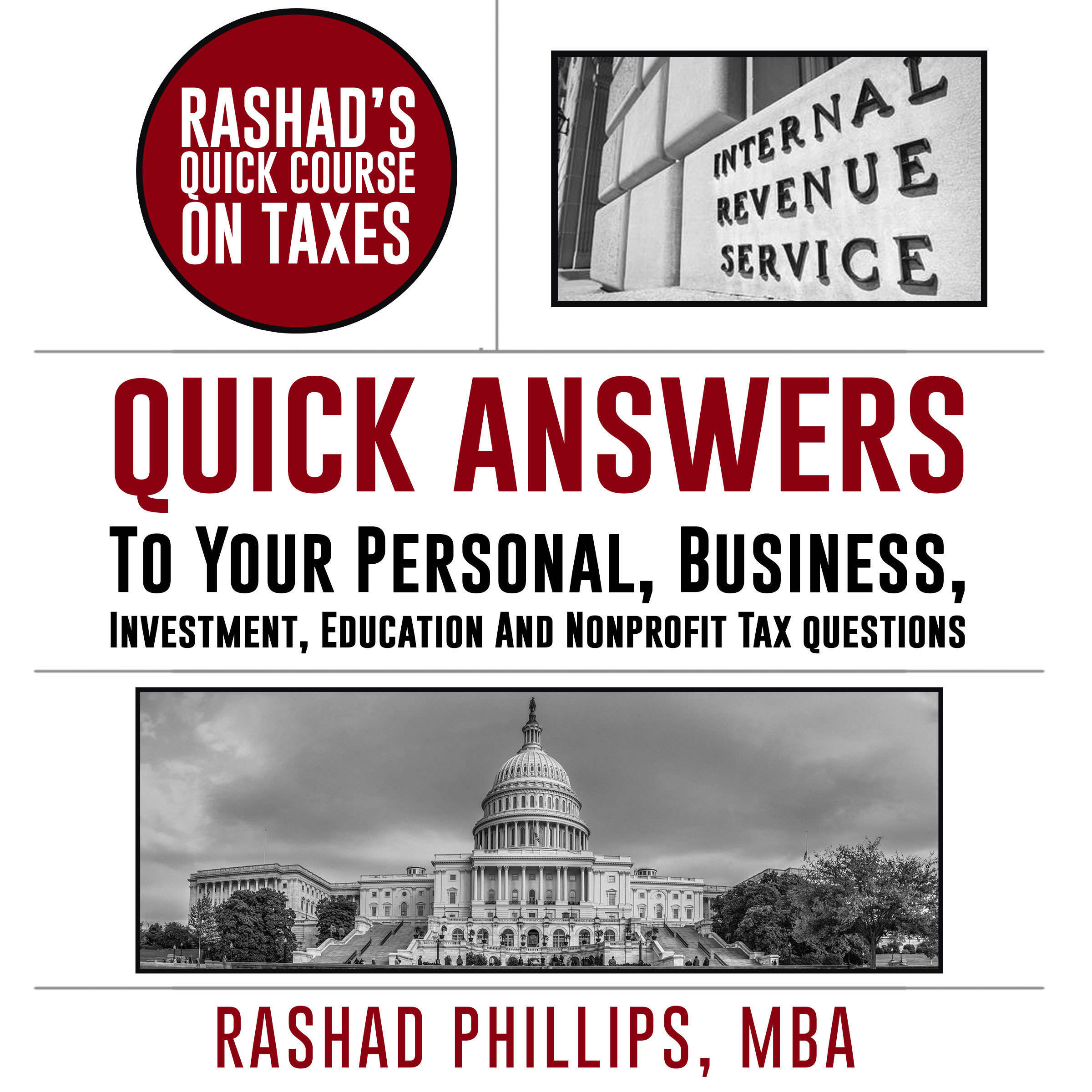 Printable Rashad's Quick Course On Taxes Audiobook Cover Art