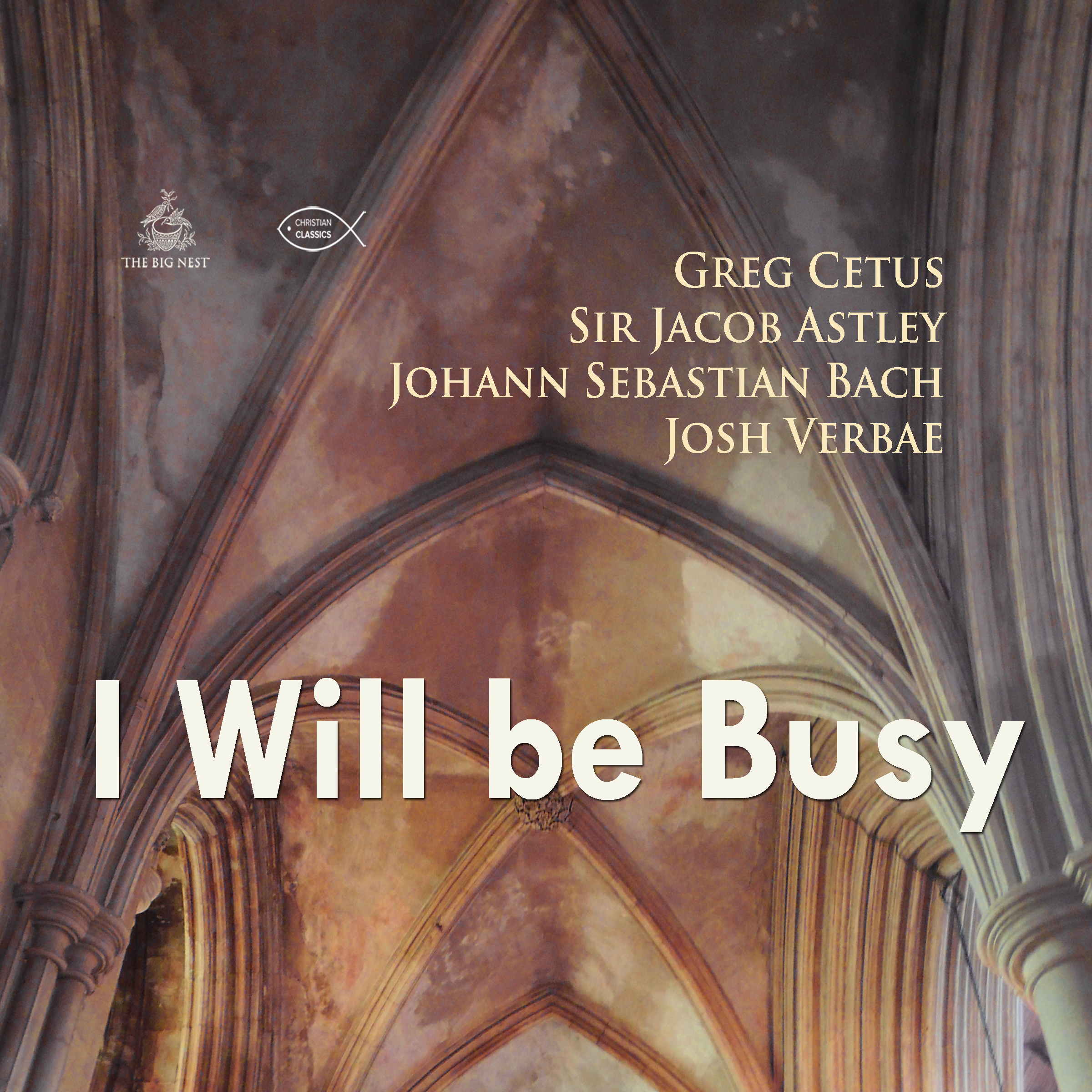 Printable I Will be Busy Audiobook Cover Art