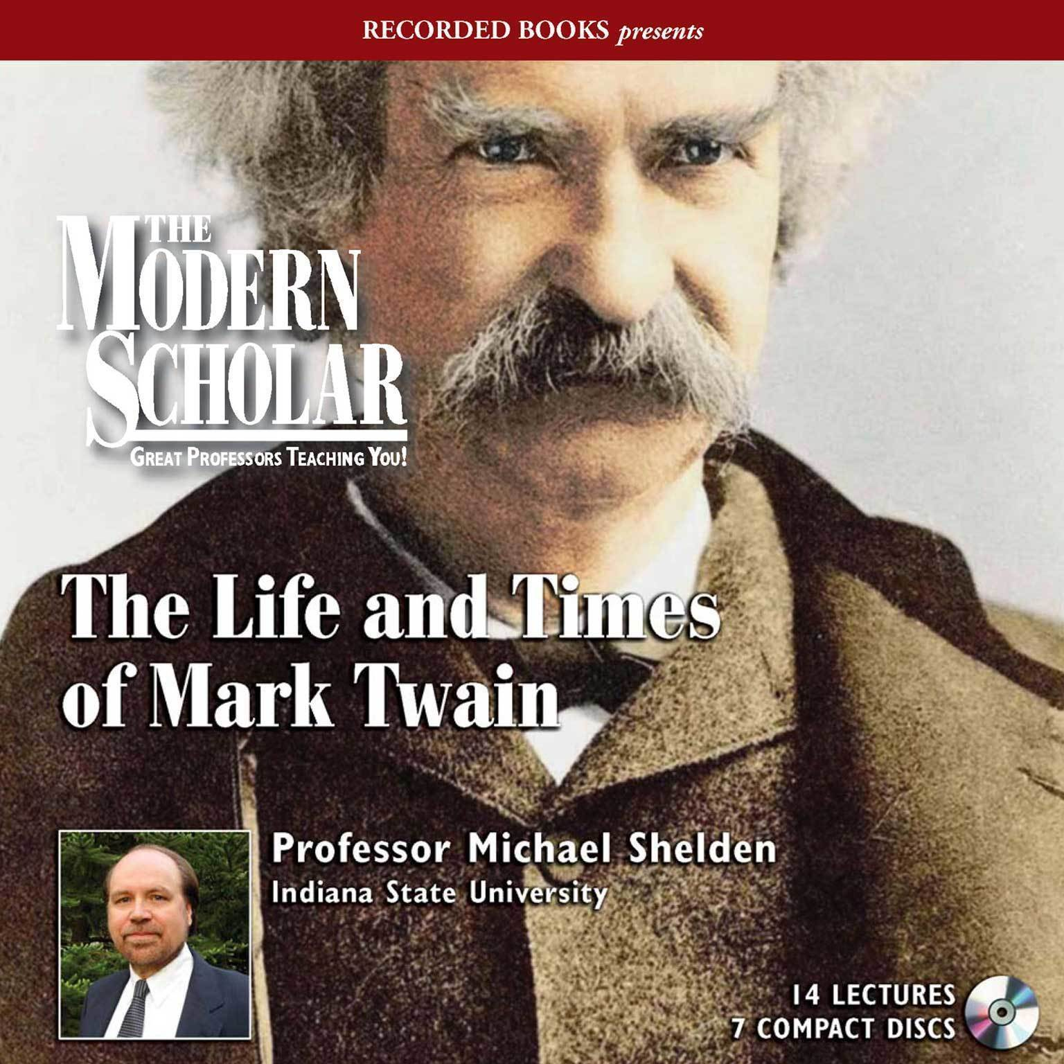 Printable The Life and Times of Mark Twain Audiobook Cover Art