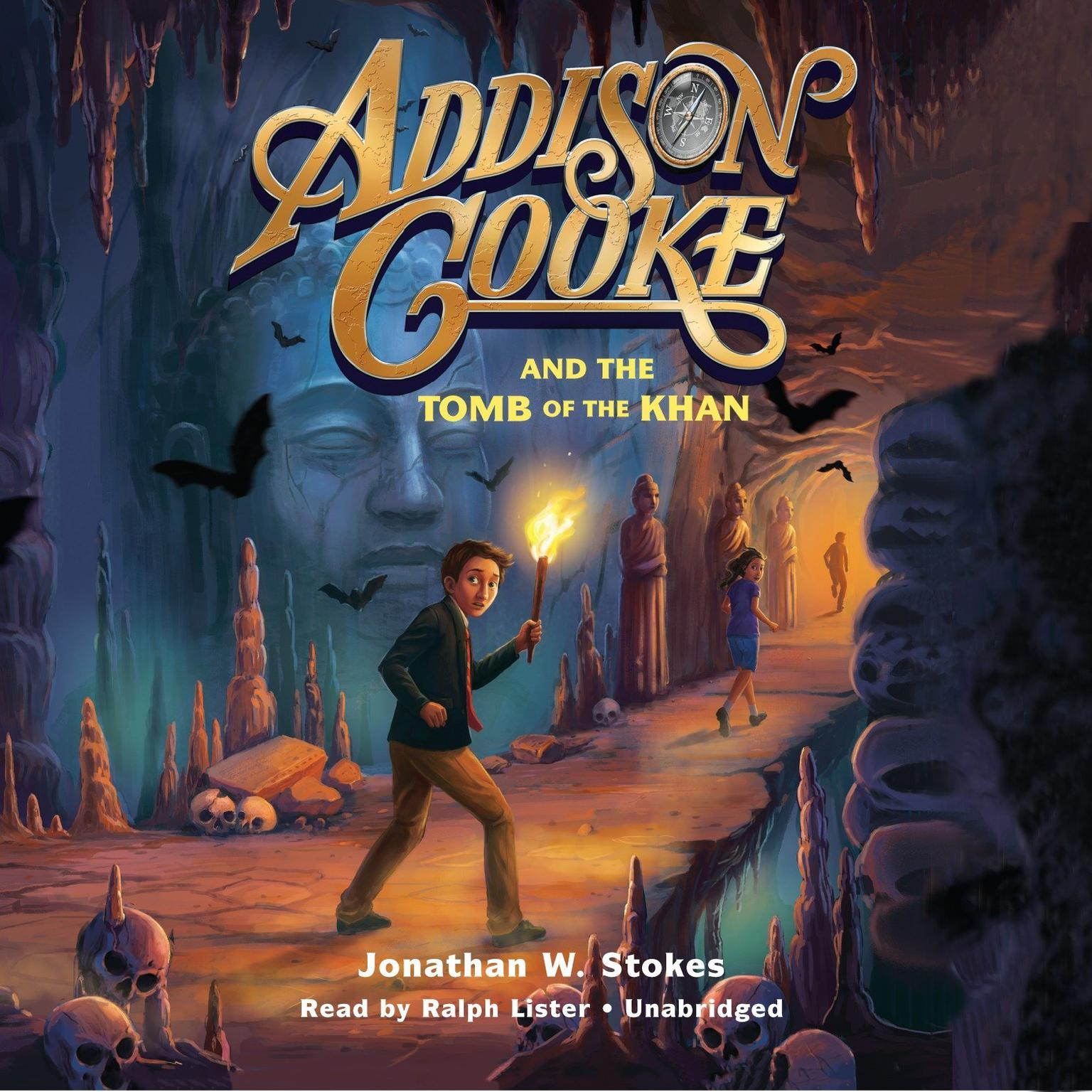 Printable Addison Cooke and the Tomb of the Khan Audiobook Cover Art