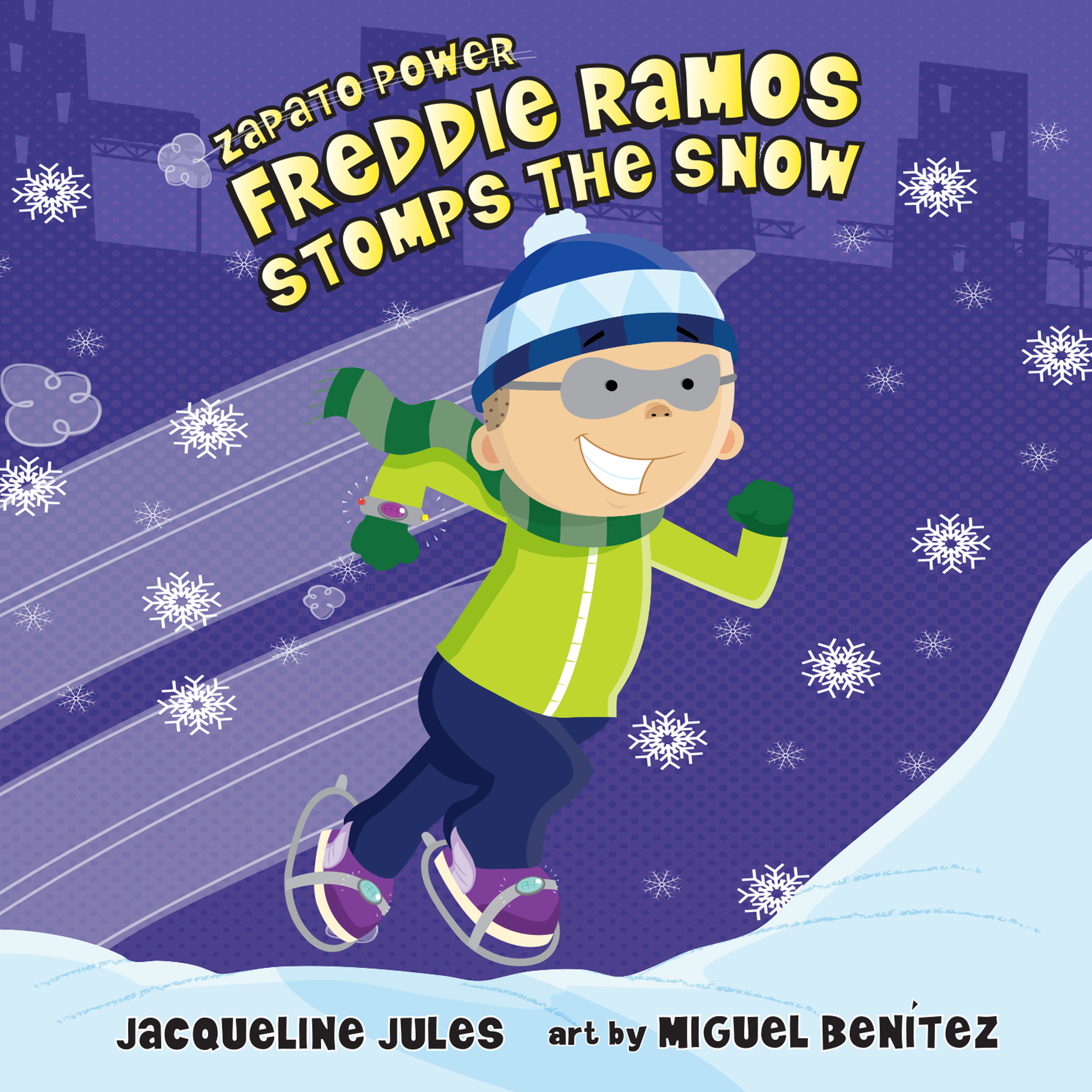 Printable Freddie Ramos Stomps the Snow Audiobook Cover Art