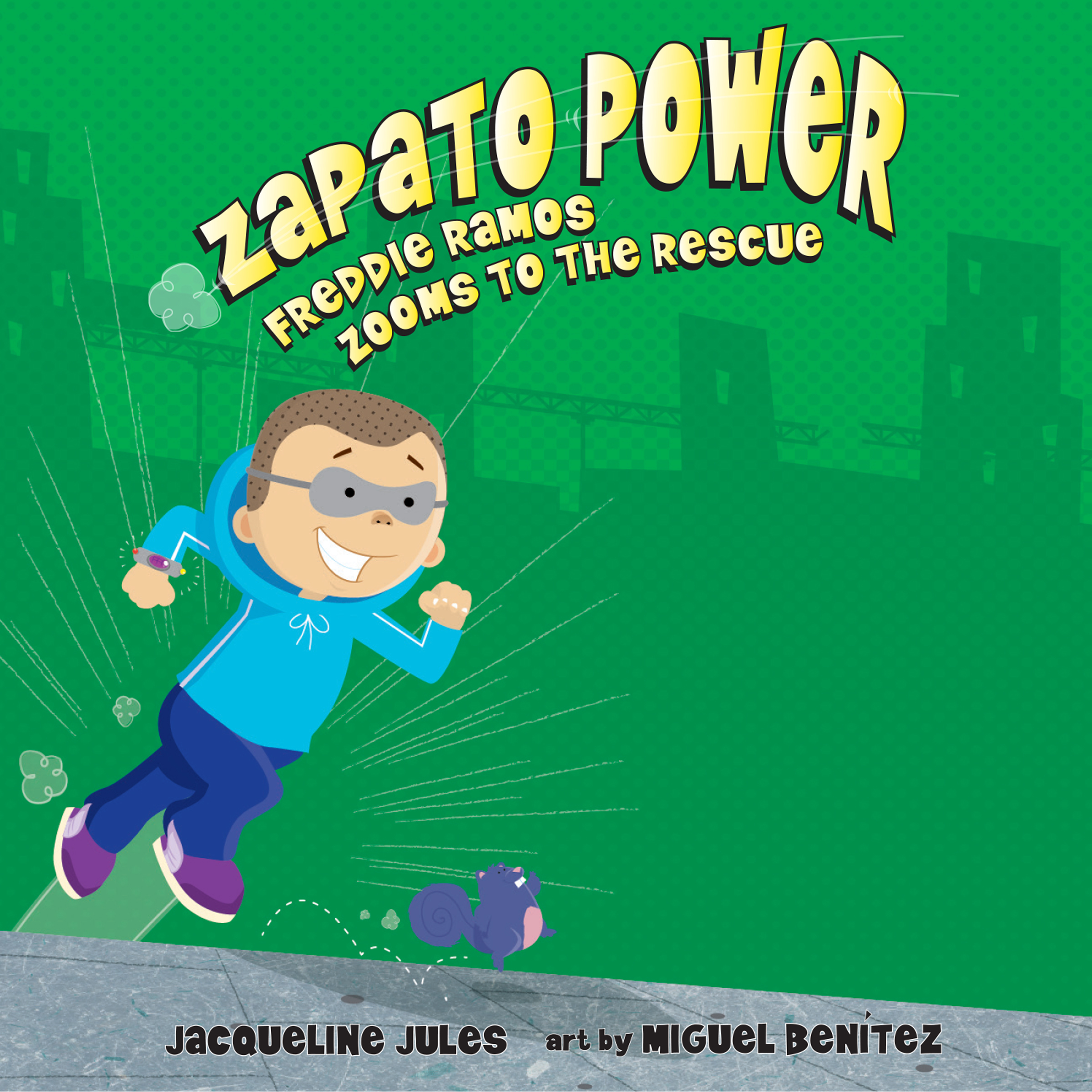 Printable Freddie Ramos Zooms to the Rescue Audiobook Cover Art