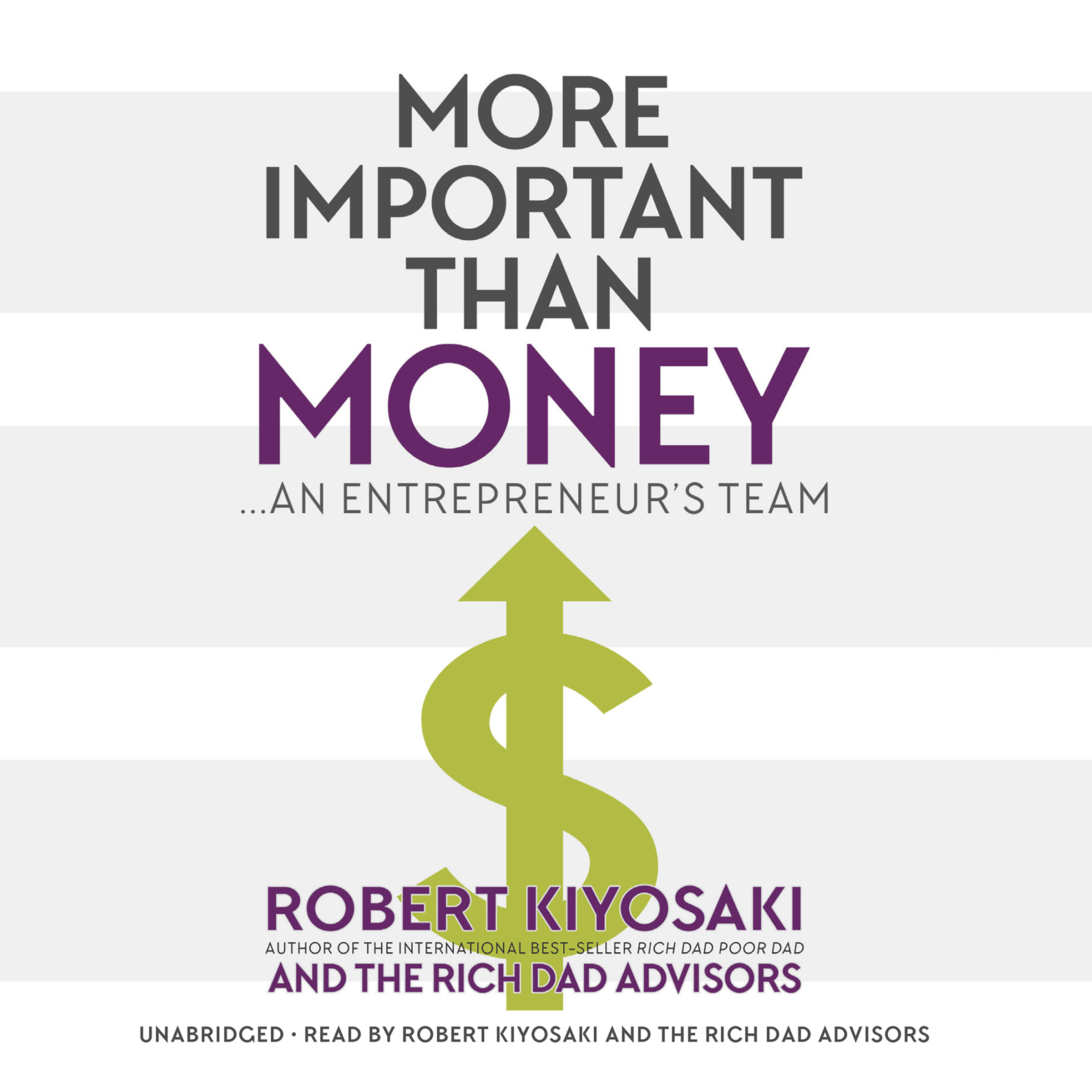Printable More Important Than Money: An Entrepreneur's Team Audiobook Cover Art