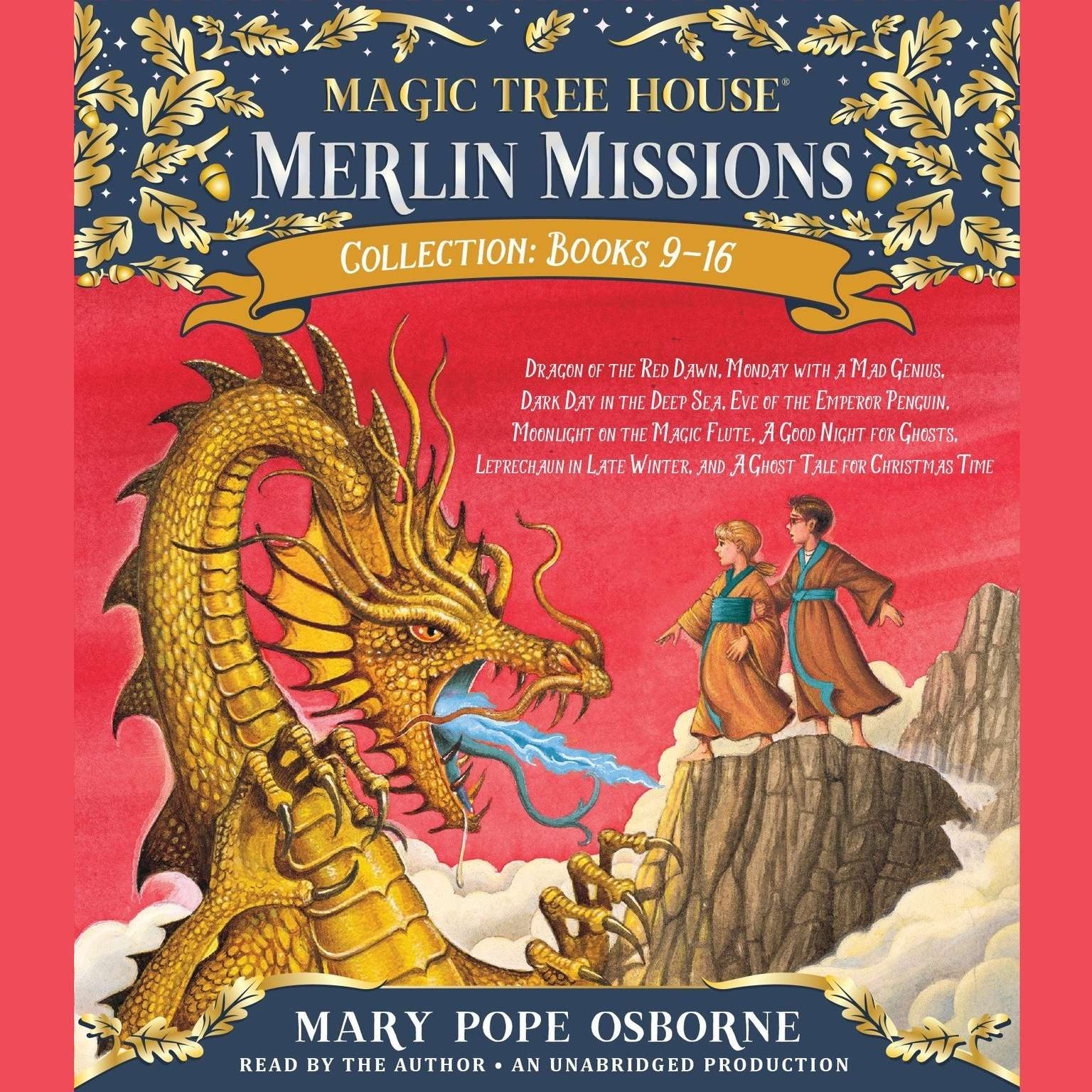 Printable Merlin Missions Collection: Books 9-16: Dragon of the Red Dawn; Monday with a Mad Genius; Dark Day in the Deep Sea; Eve of the Emperor Penguin; and more Audiobook Cover Art