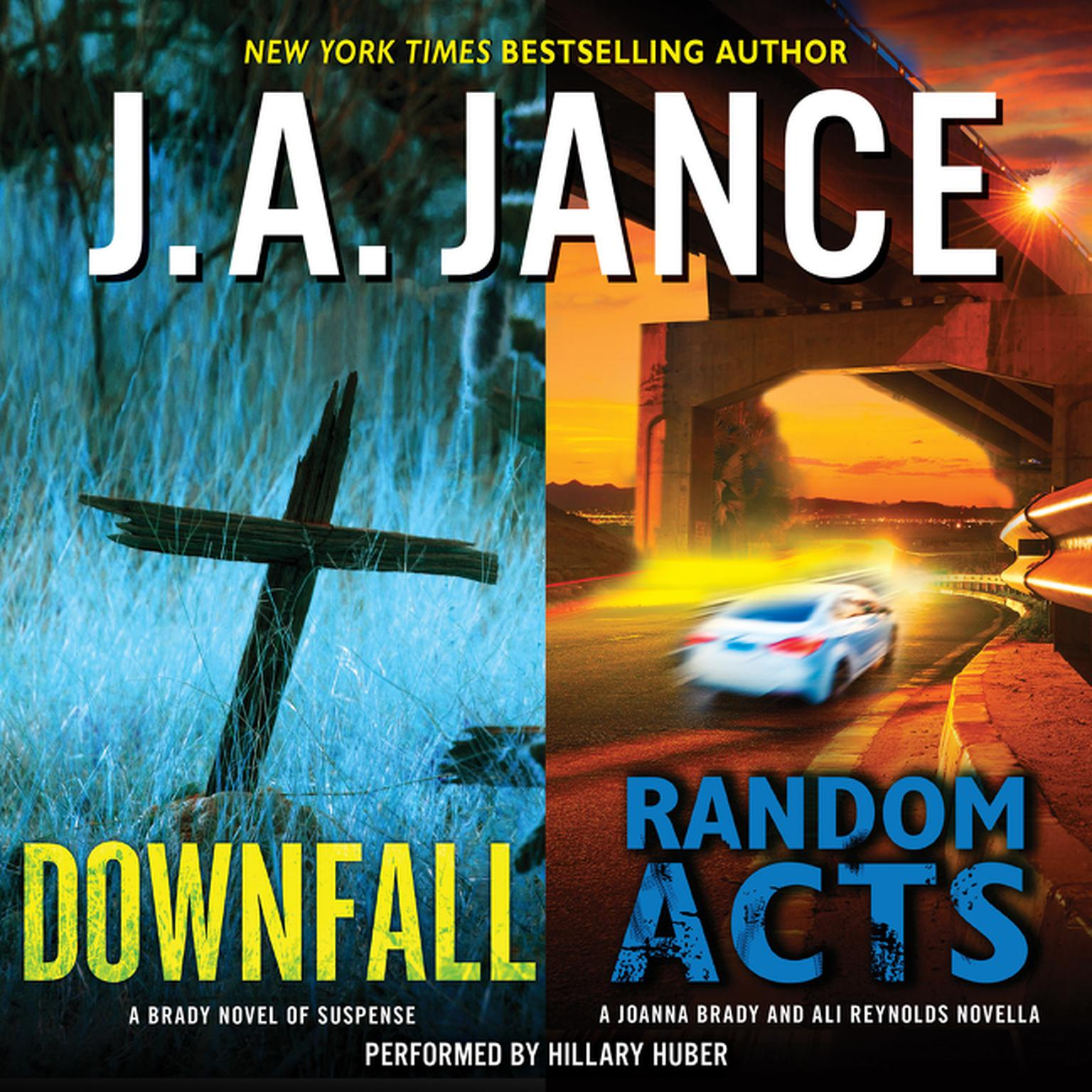 Printable Downfall + Random Acts: A Brad Novel of Suspense Audiobook Cover Art