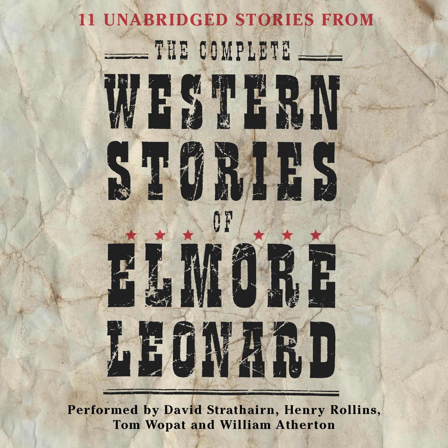 Printable The Complete Western Stories of Elmore Leonard (Abridged) Audiobook Cover Art