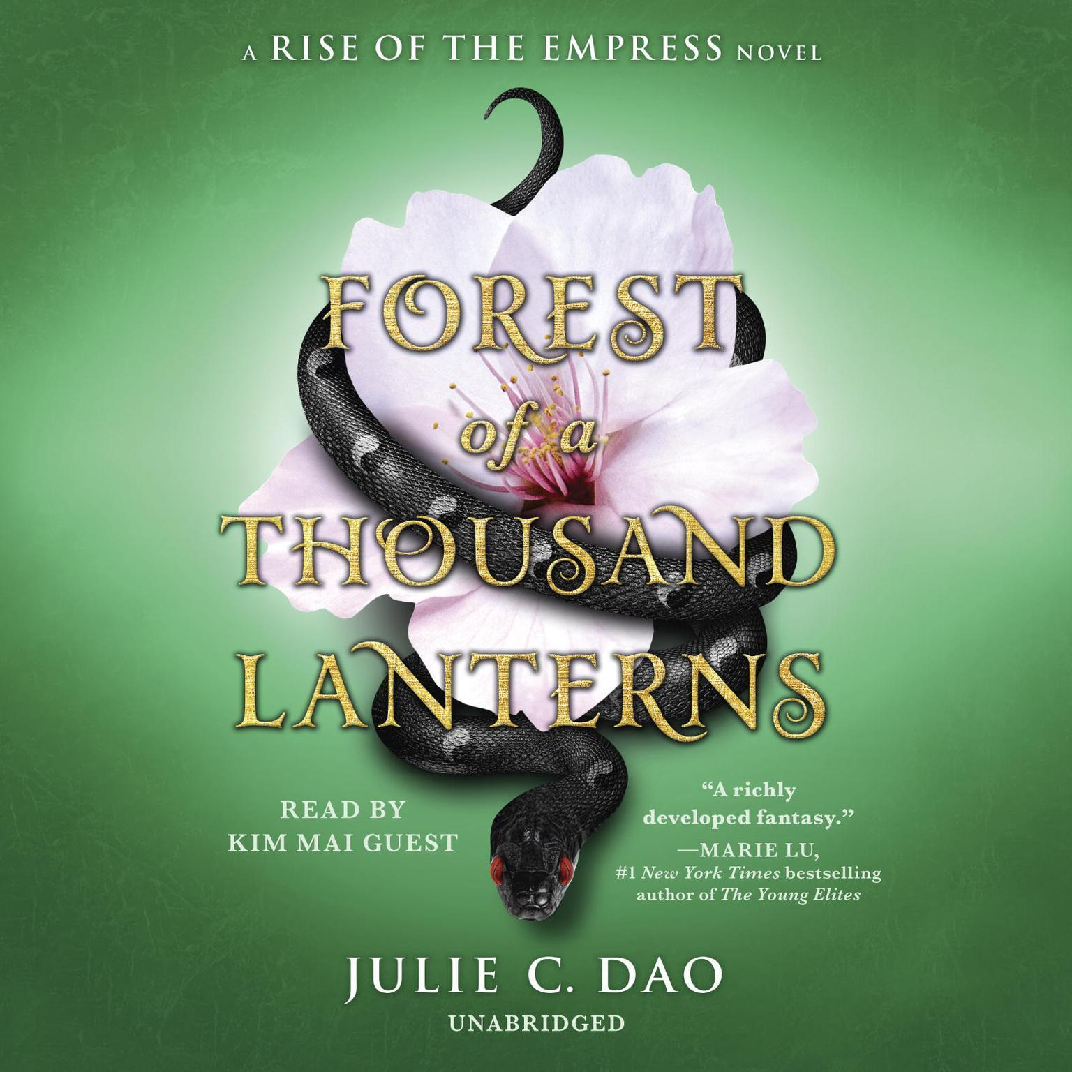 Printable Forest of a Thousand Lanterns Audiobook Cover Art