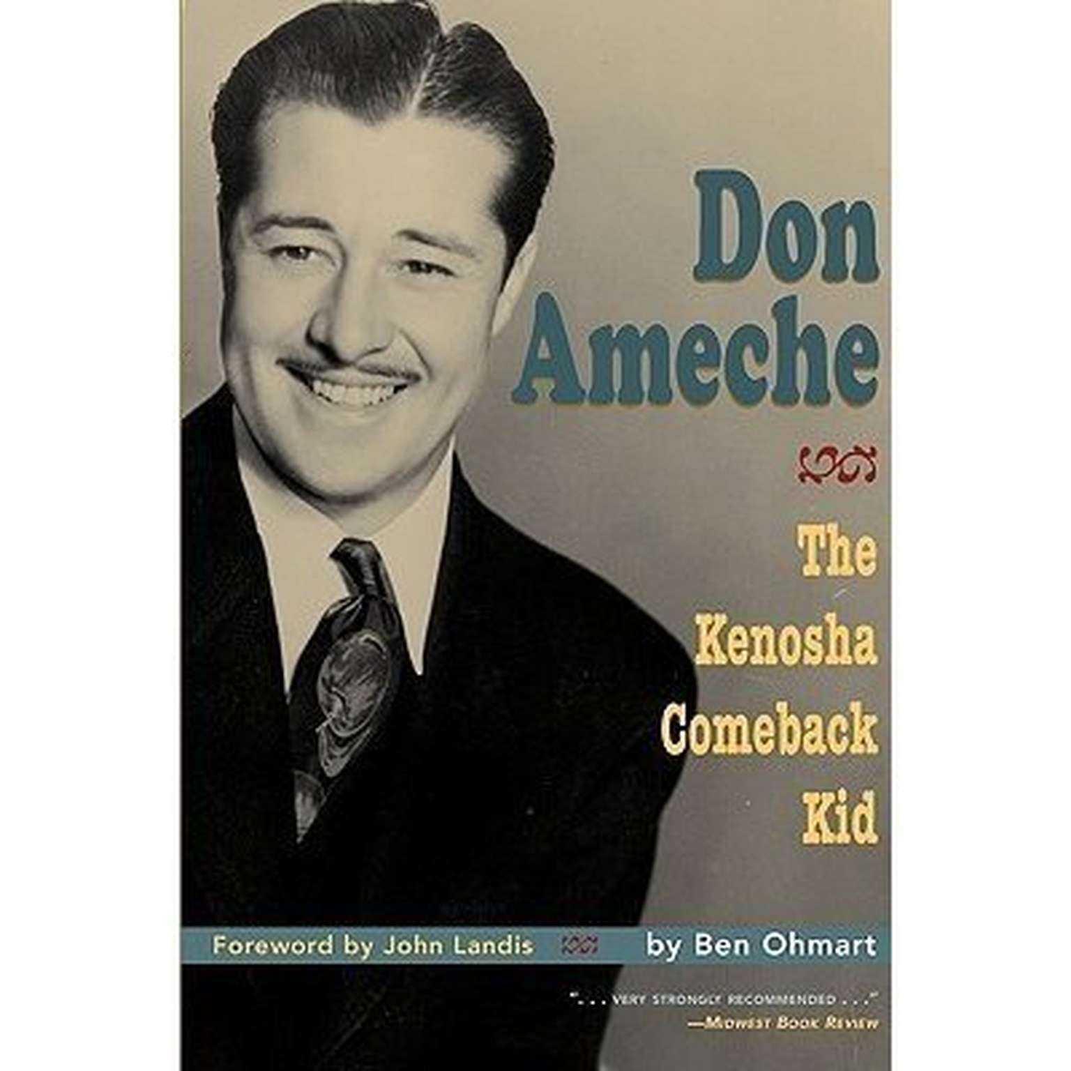 Printable Don Ameche: The Kenosha Comeback Kid Audiobook Cover Art