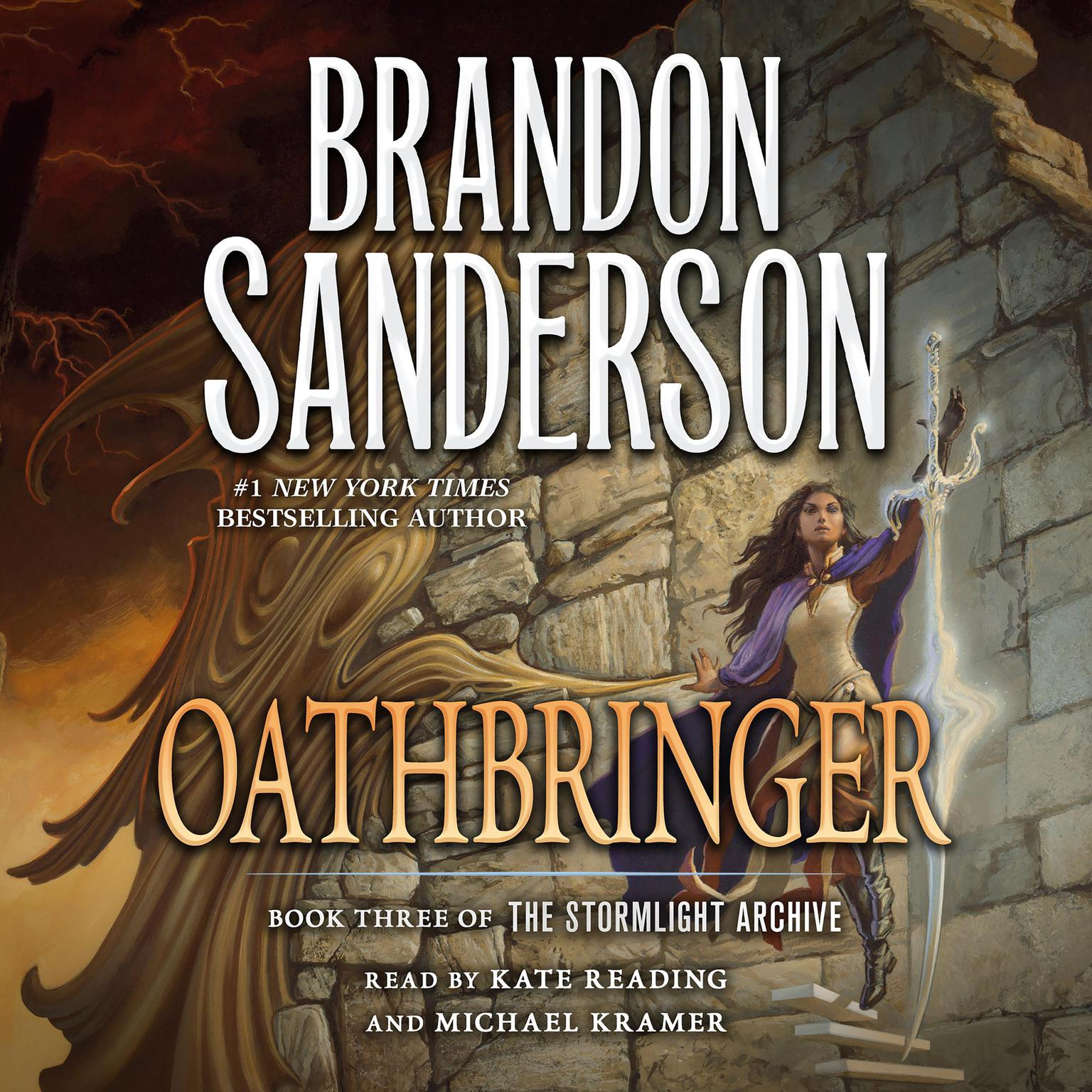 Printable Oathbringer: Book Three of the Stormlight Archive Audiobook Cover Art