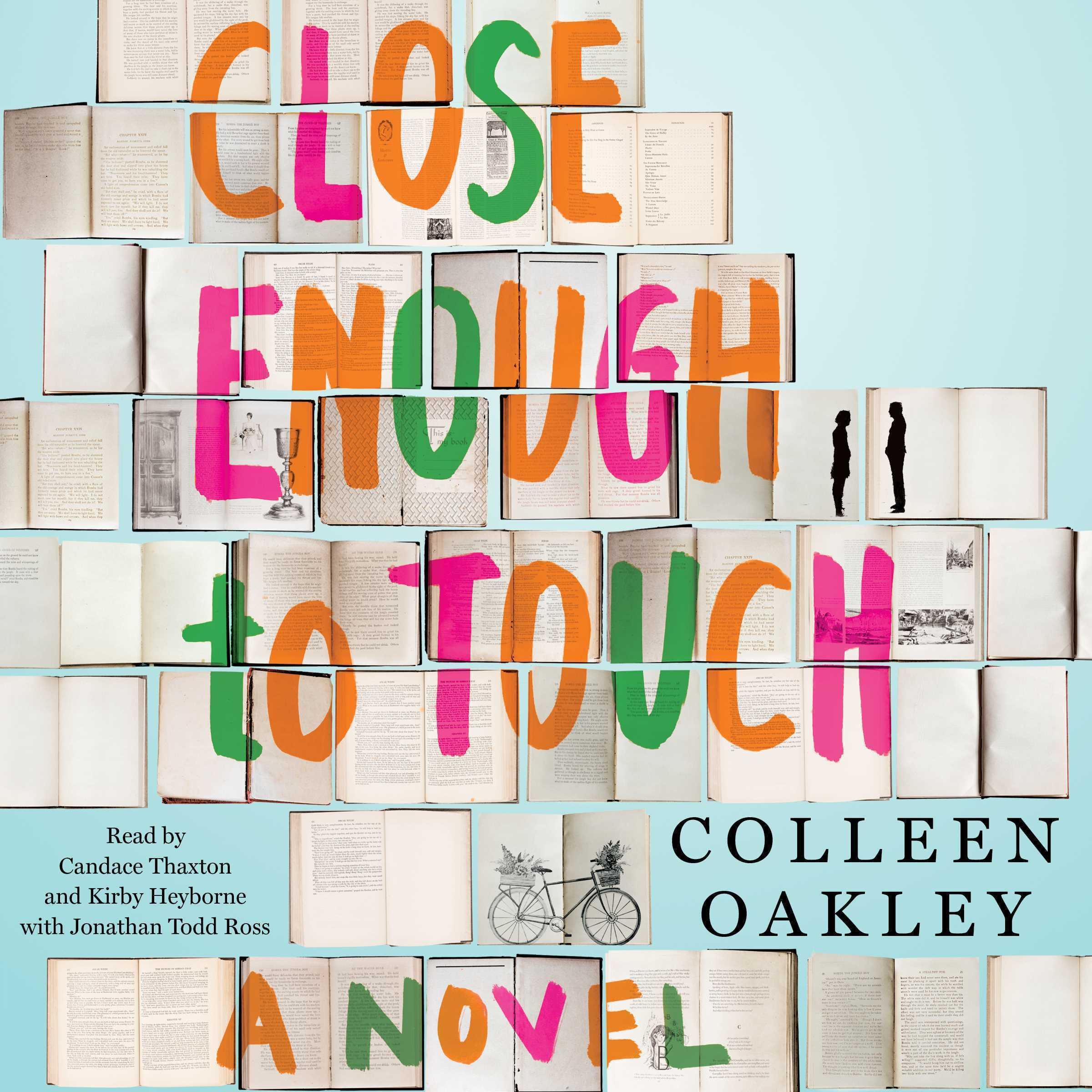 Printable Close Enough to Touch Audiobook Cover Art