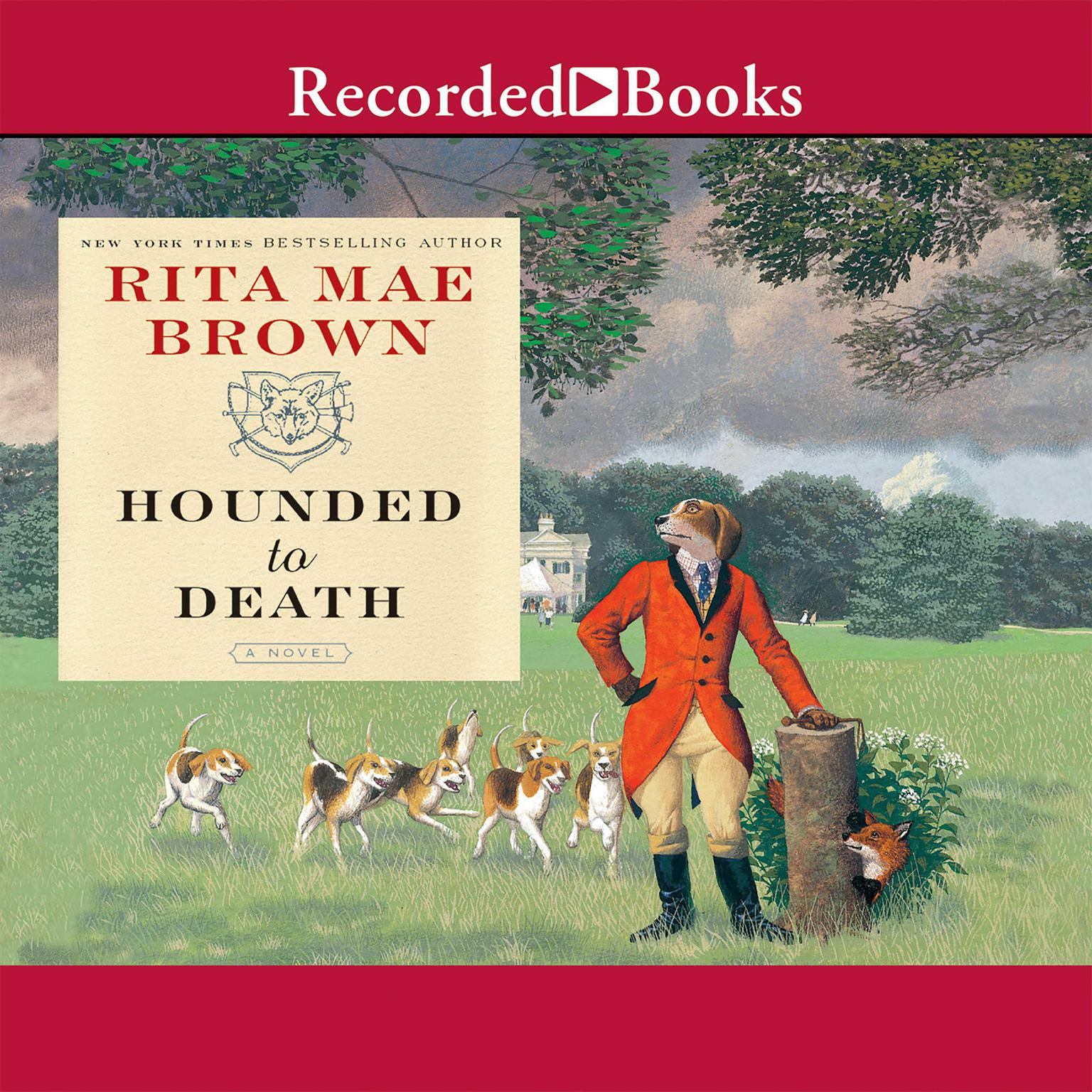 Printable Hounded to Death Audiobook Cover Art