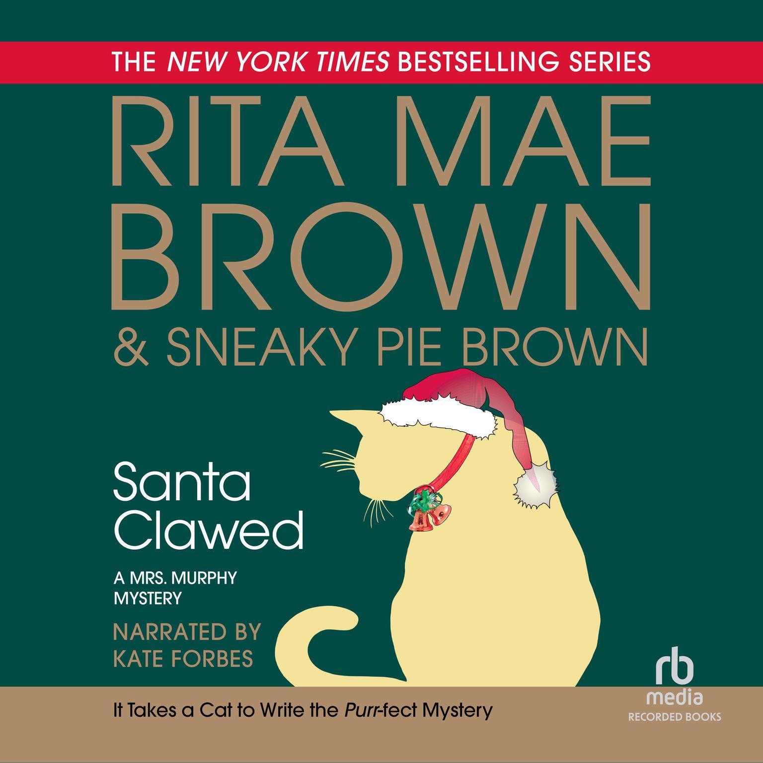 Printable Santa Clawed Audiobook Cover Art