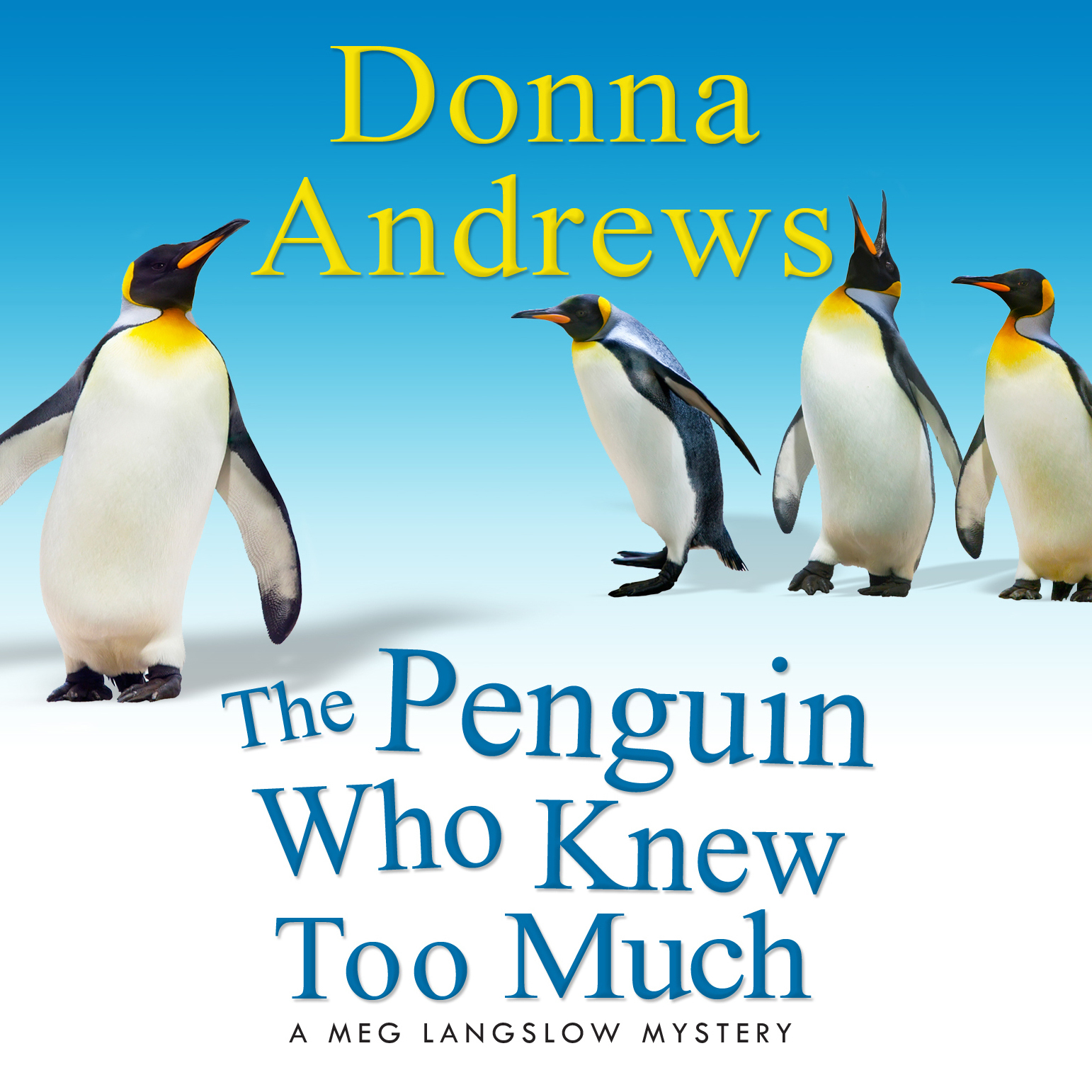 Printable The Penguin Who Knew Too Much Audiobook Cover Art