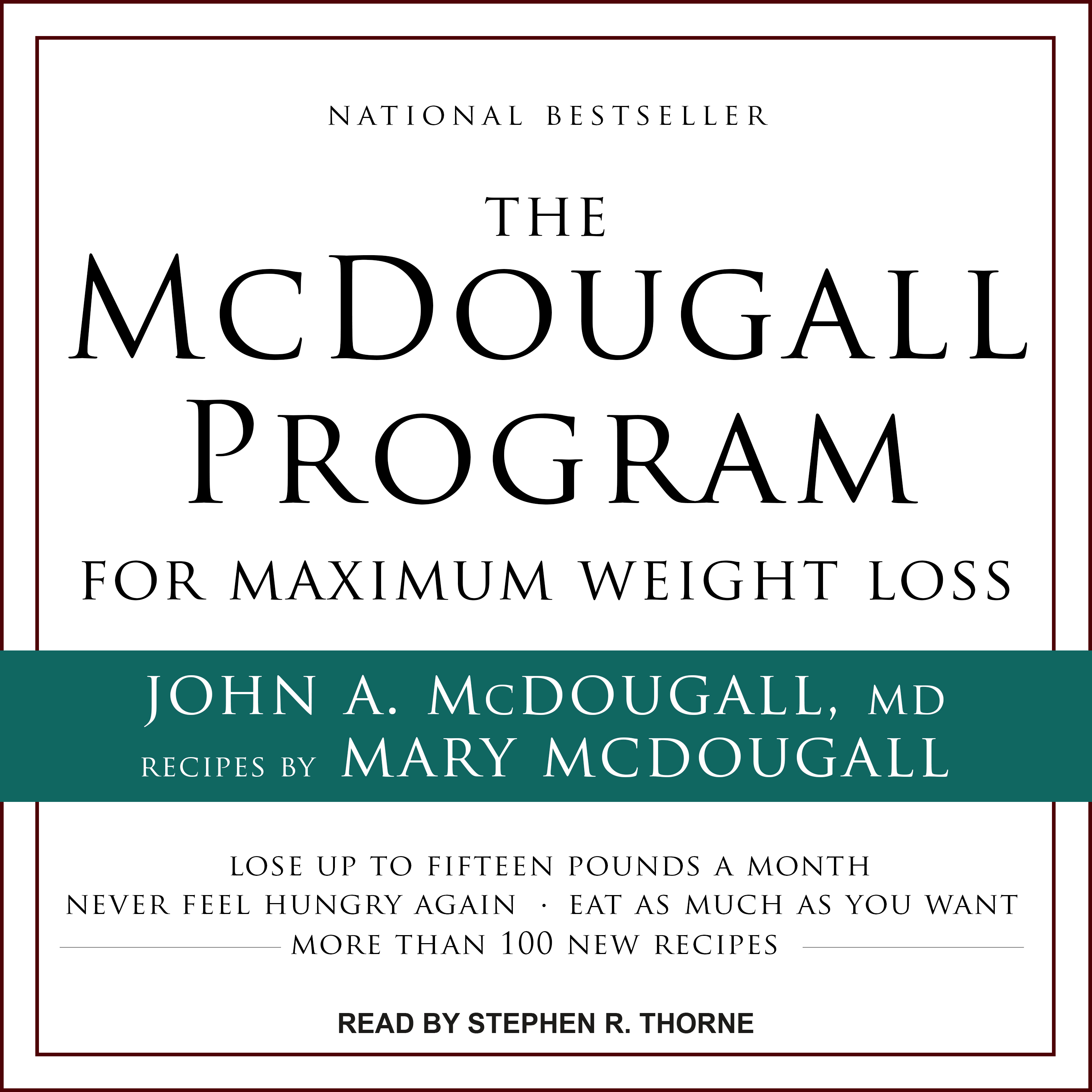 Printable The McDougall Program for Maximum Weight Loss Audiobook Cover Art
