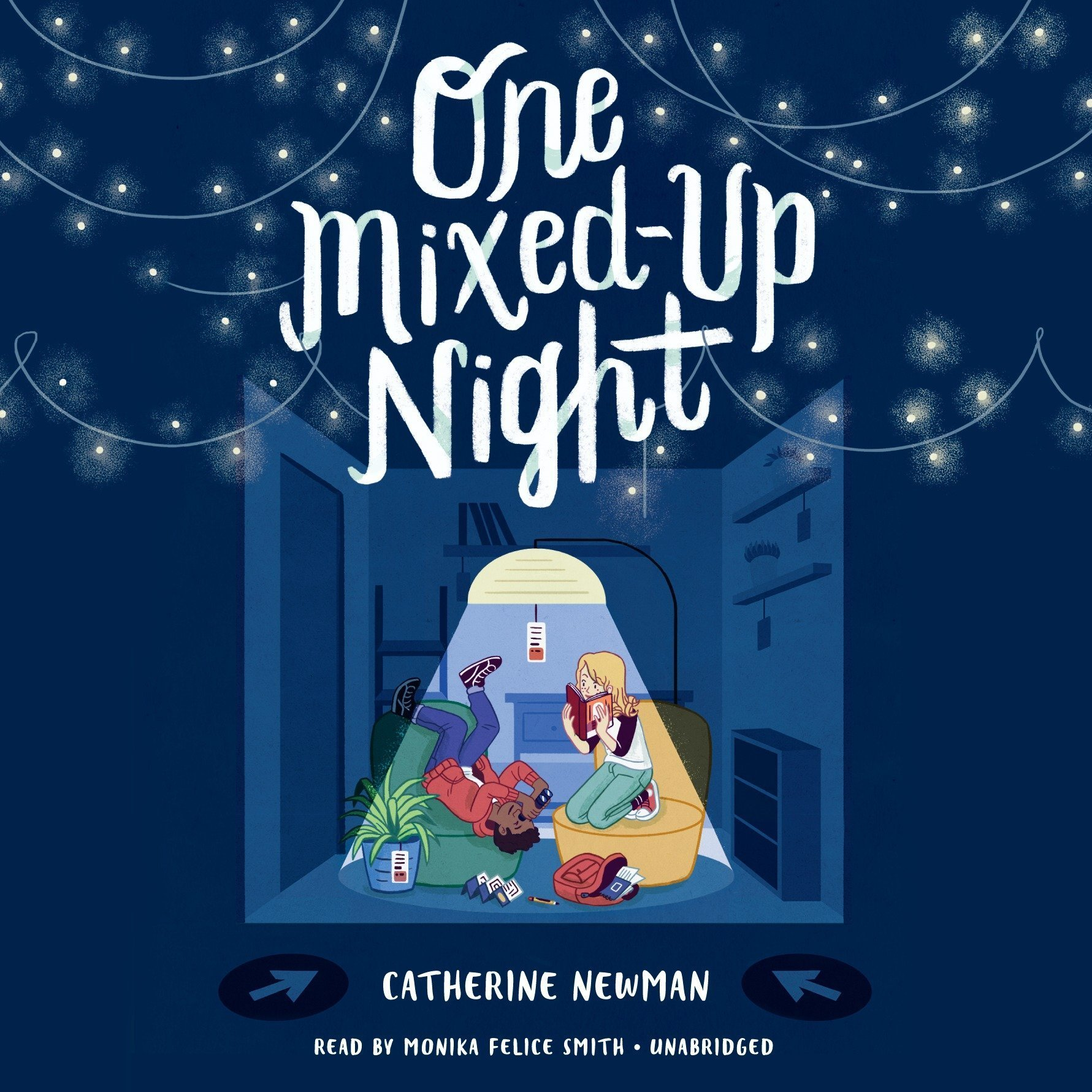 Printable One Mixed-Up Night Audiobook Cover Art