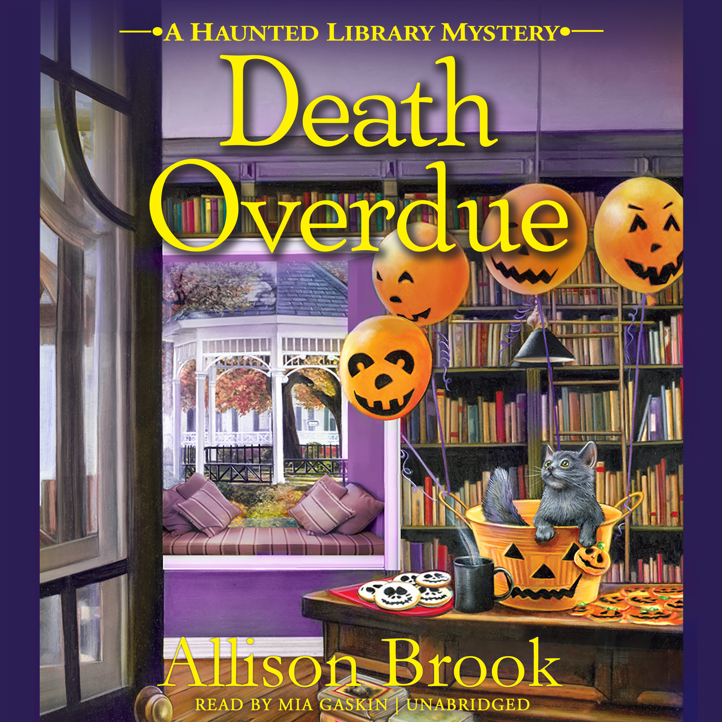 Printable Death Overdue: A Haunted Library Mystery Audiobook Cover Art