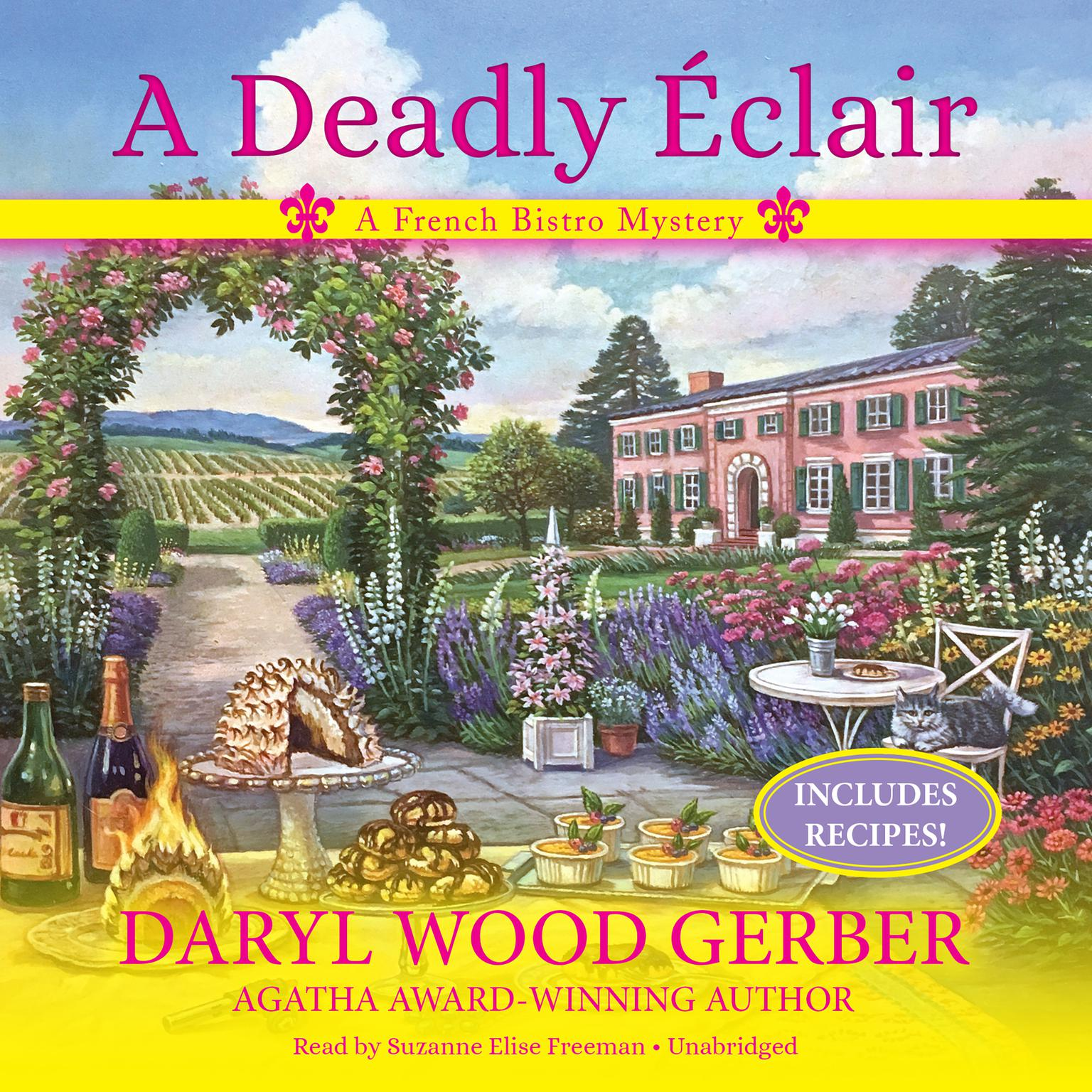 Printable A Deadly Éclair: A French Bistro Mystery Audiobook Cover Art