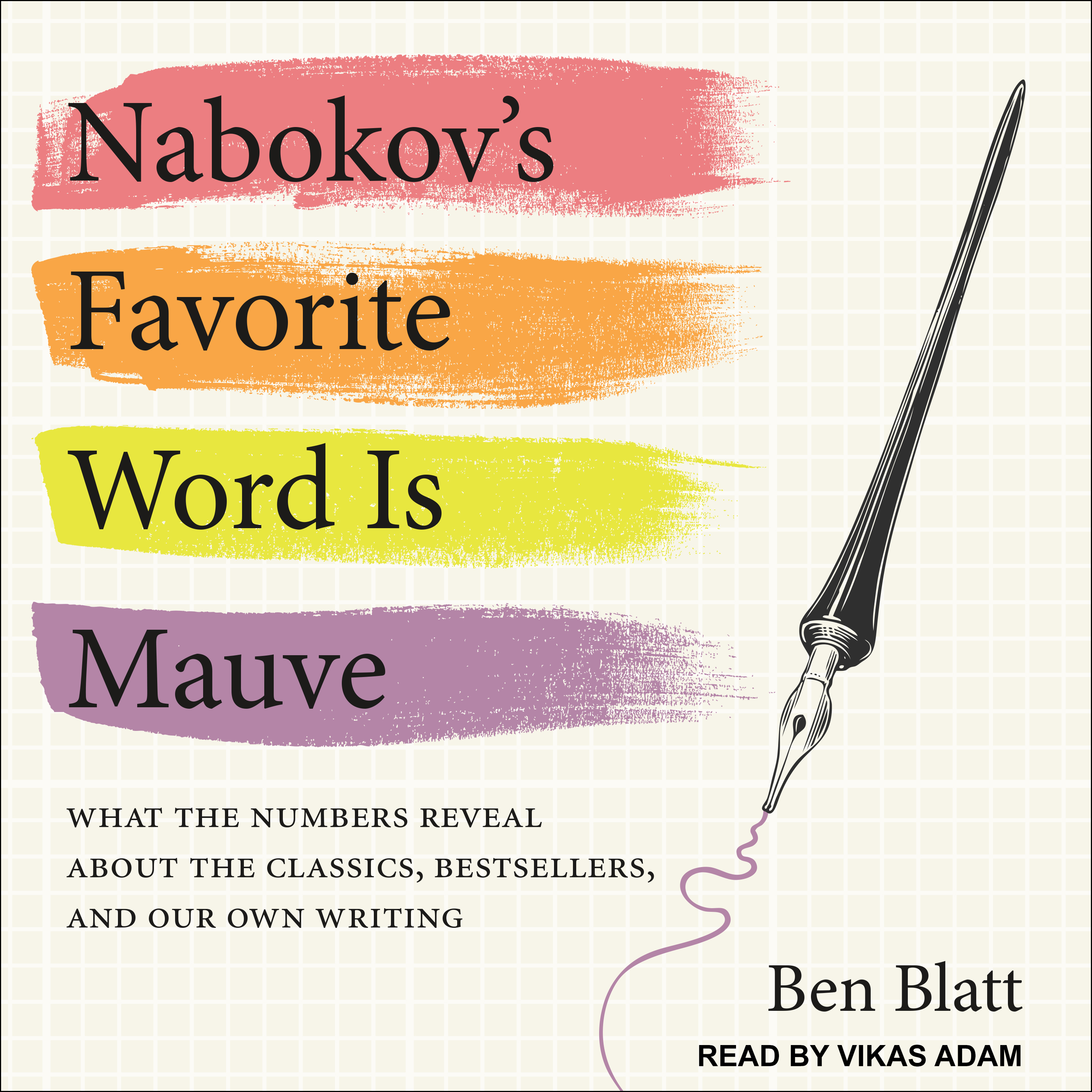 Printable Nabokov's Favorite Word Is Mauve: What the Numbers Reveal About the Classics, Bestsellers, and Our Own Writing Audiobook Cover Art
