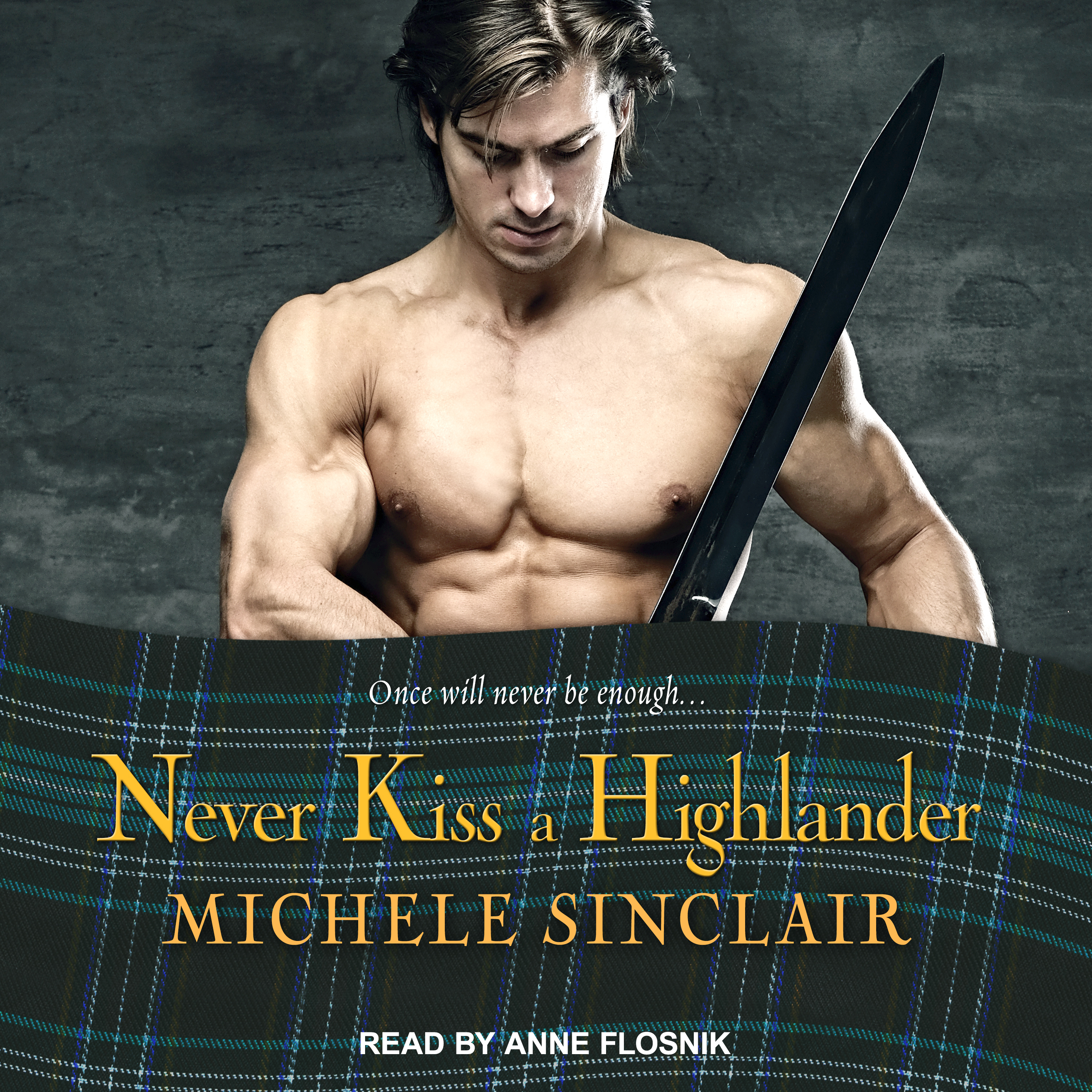 Printable Never Kiss a Highlander Audiobook Cover Art