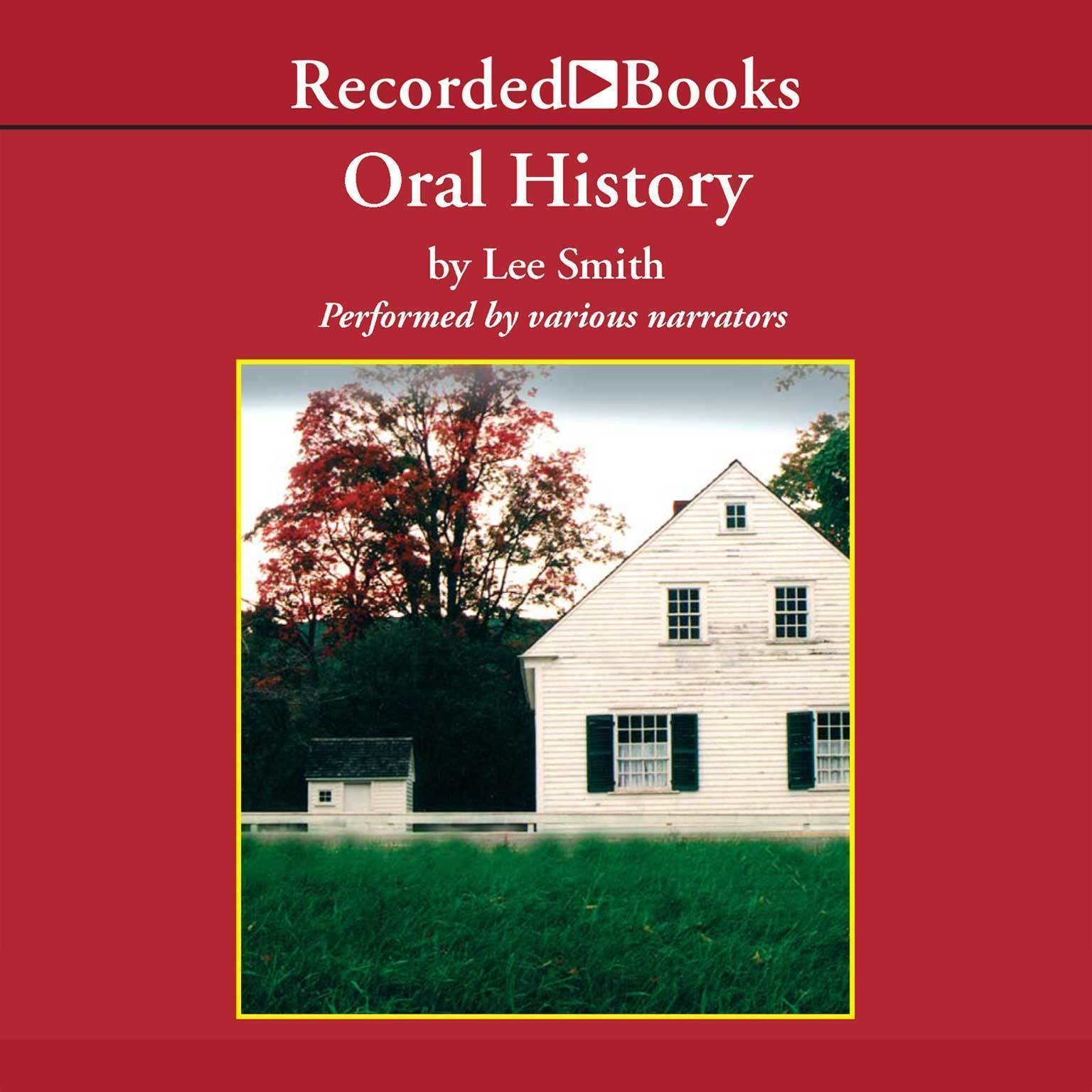 Printable Oral History Audiobook Cover Art