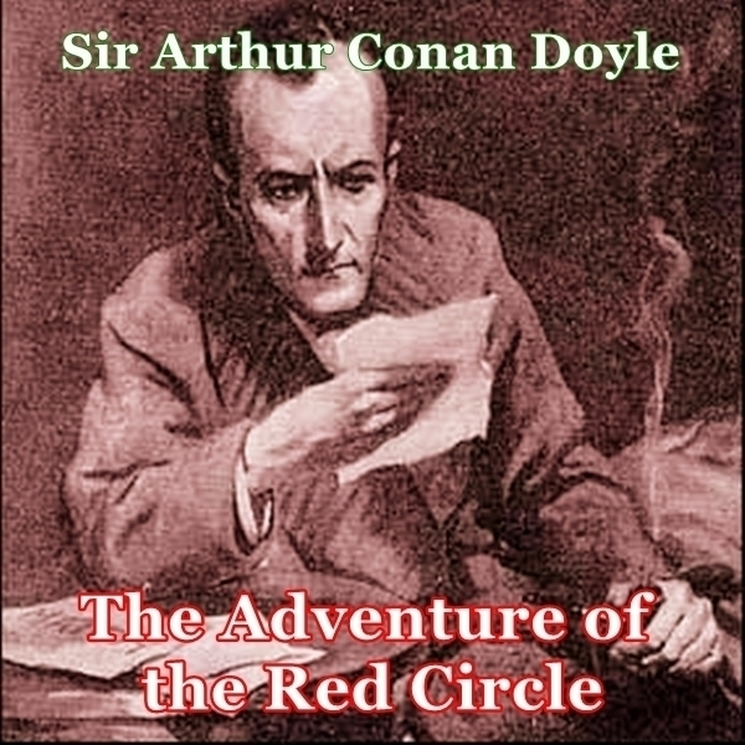 Printable Sherlock Holmes:  The Adventure of the Red Circle Audiobook Cover Art