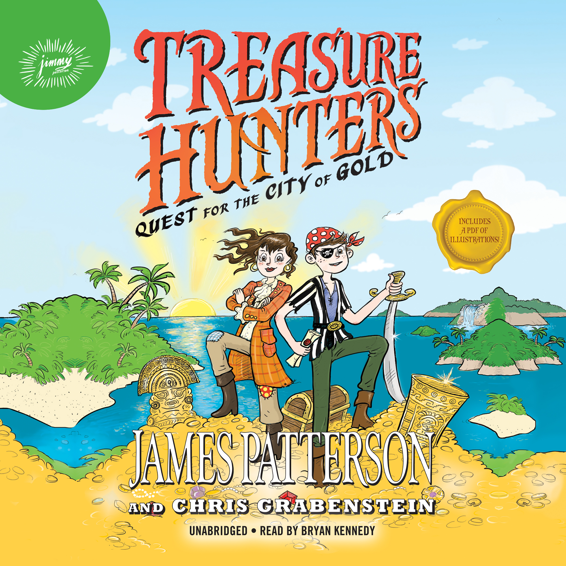 Printable Treasure Hunters: Quest for the City of Gold Audiobook Cover Art
