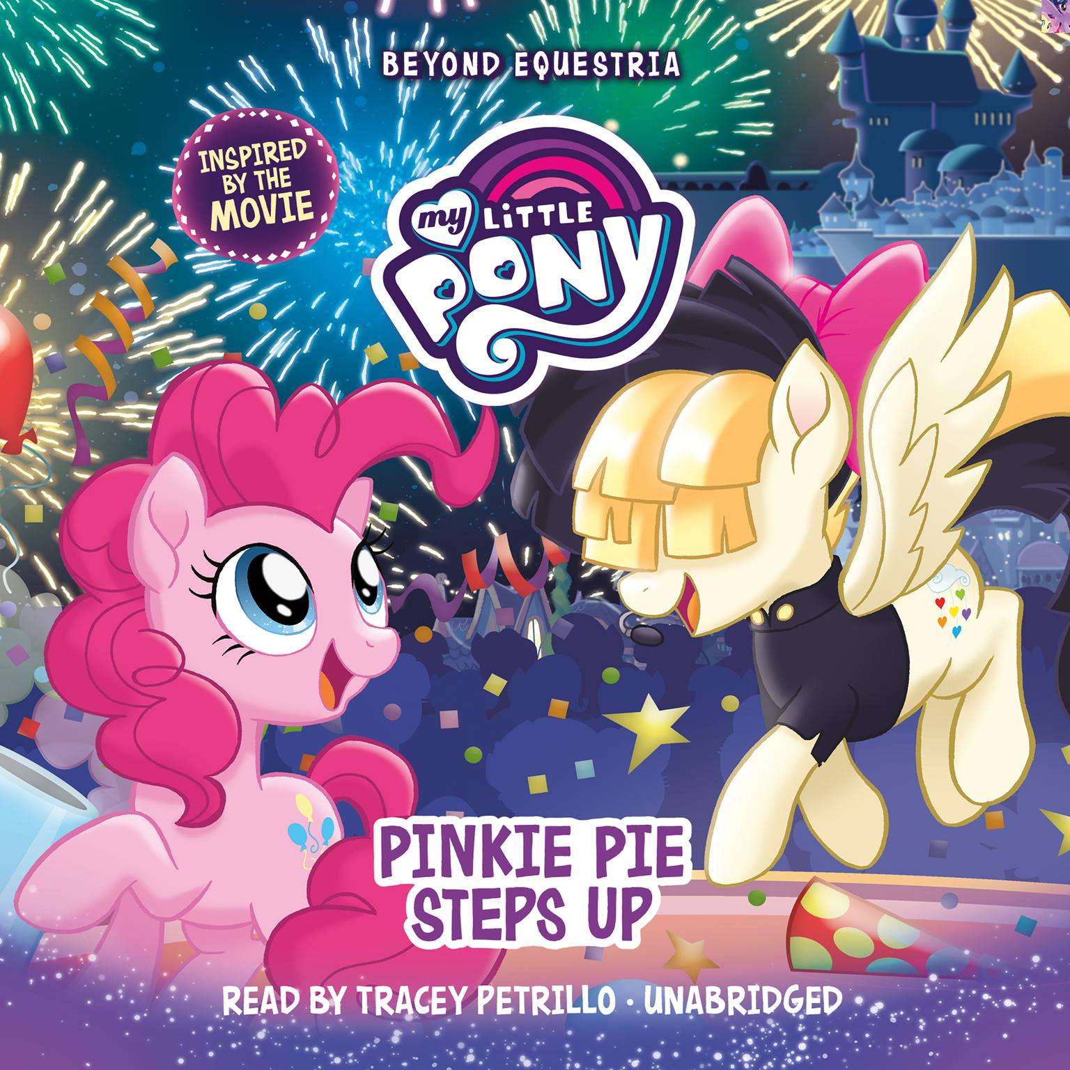 Printable My Little Pony: Beyond Equestria: Pinkie Pie Steps Up Audiobook Cover Art