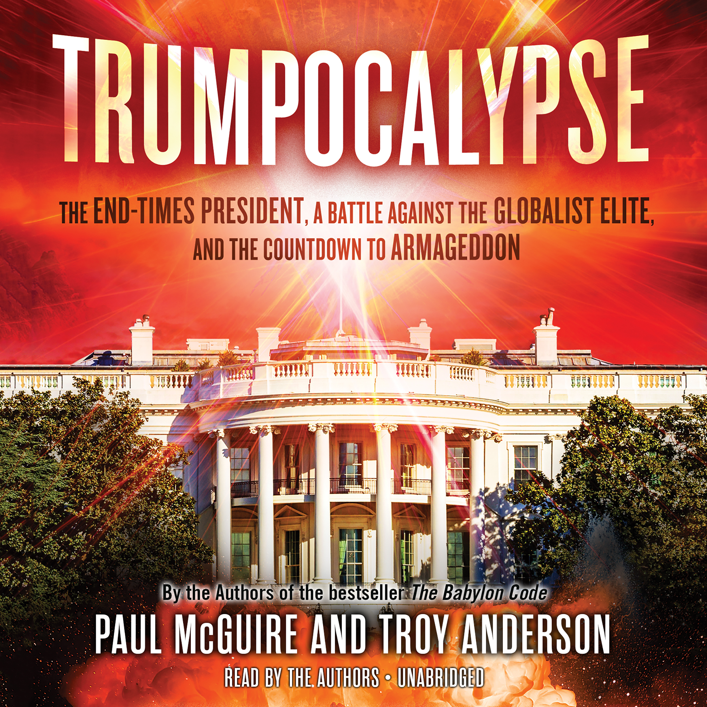 Printable Trumpocalypse: The End-Times President, a Battle Against the Globalist Elite, and the Countdown to Armageddon Audiobook Cover Art