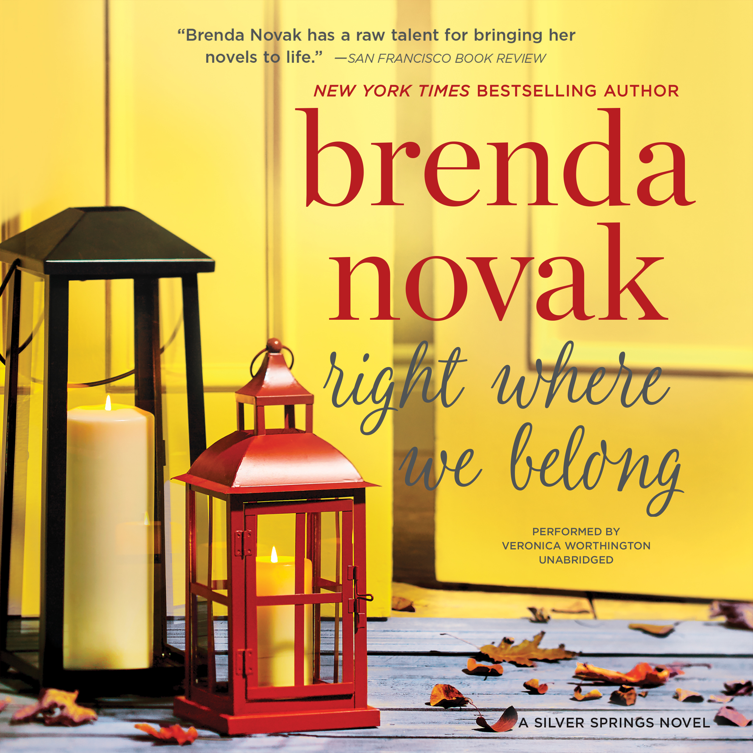 Printable Right Where We Belong: Silver Springs, #4 Audiobook Cover Art