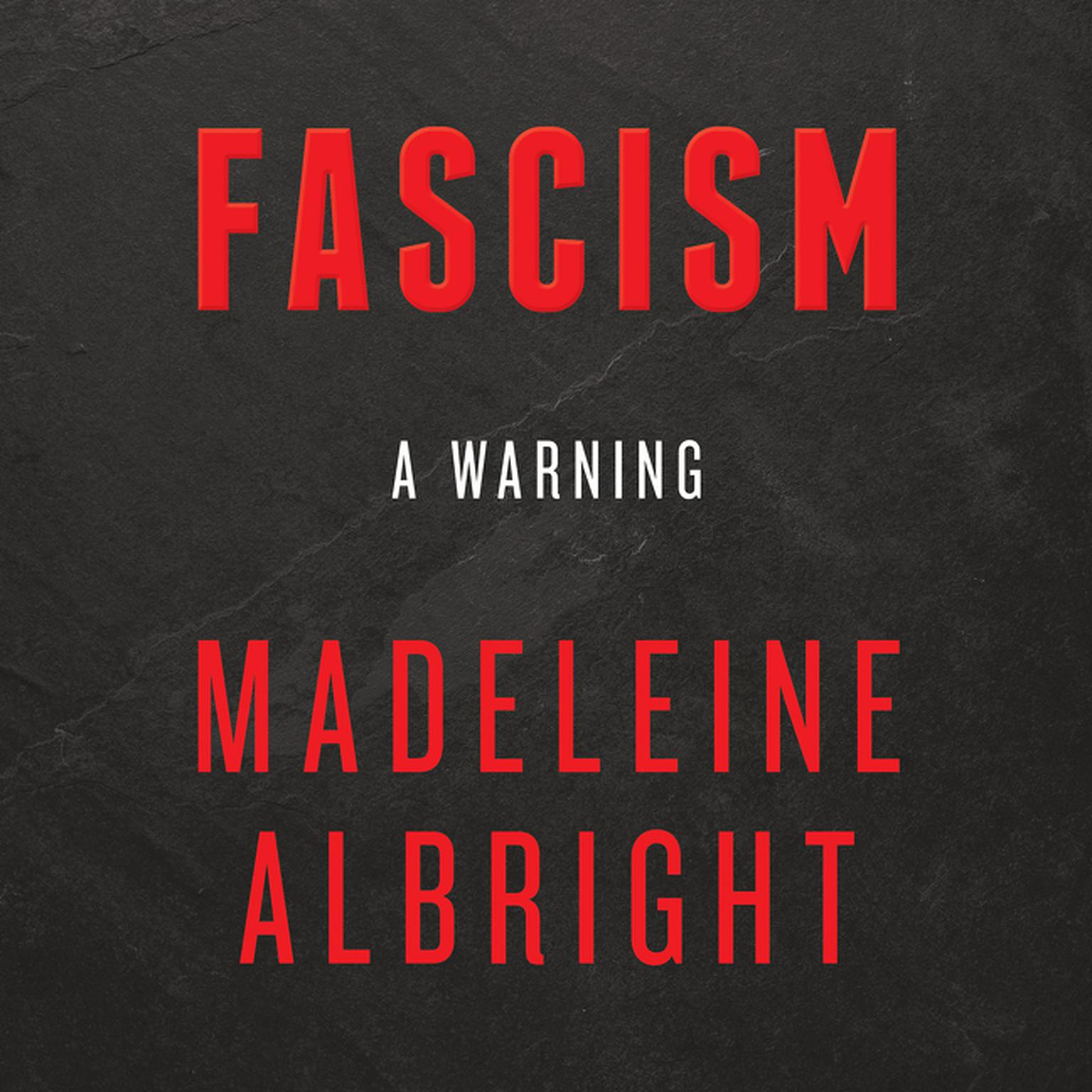 Printable Fascism: A Warning: A Warning Audiobook Cover Art