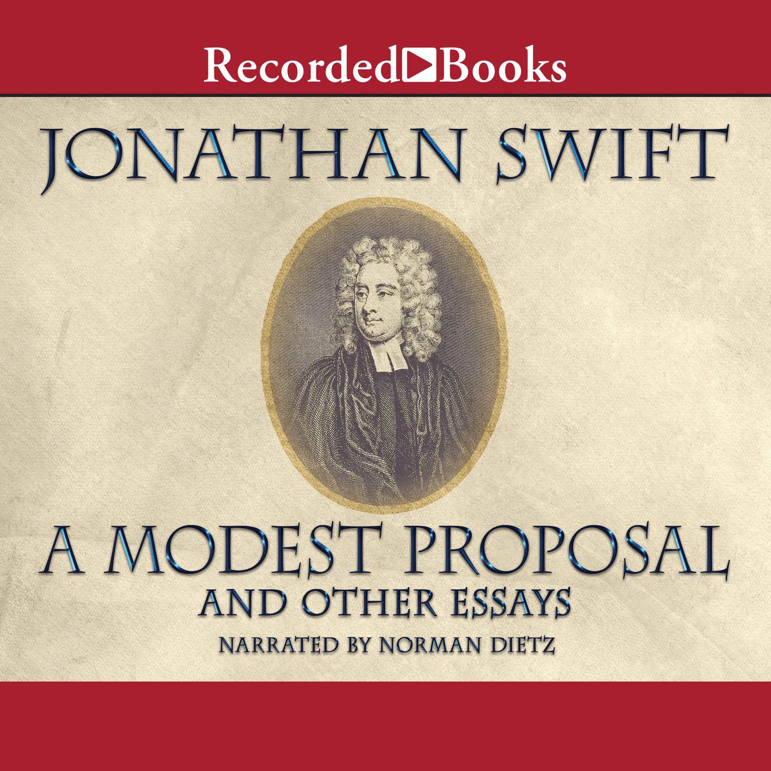 Printable A Modest Proposal and Other Writings Audiobook Cover Art