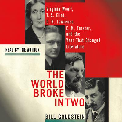 The World Broke in Two: Virginia Woolf, T. S. Eliot, D. H. Lawrence, E. M. Forster, and the Year That Changed Literature Audiobook, by Bill Goldstein