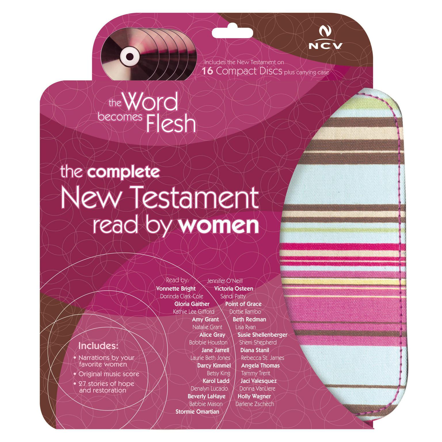Printable The Word Becomes Flesh Audio Bible - New Century Version, NCV: New Testament: The Complete New Testament Read by Women Audiobook Cover Art