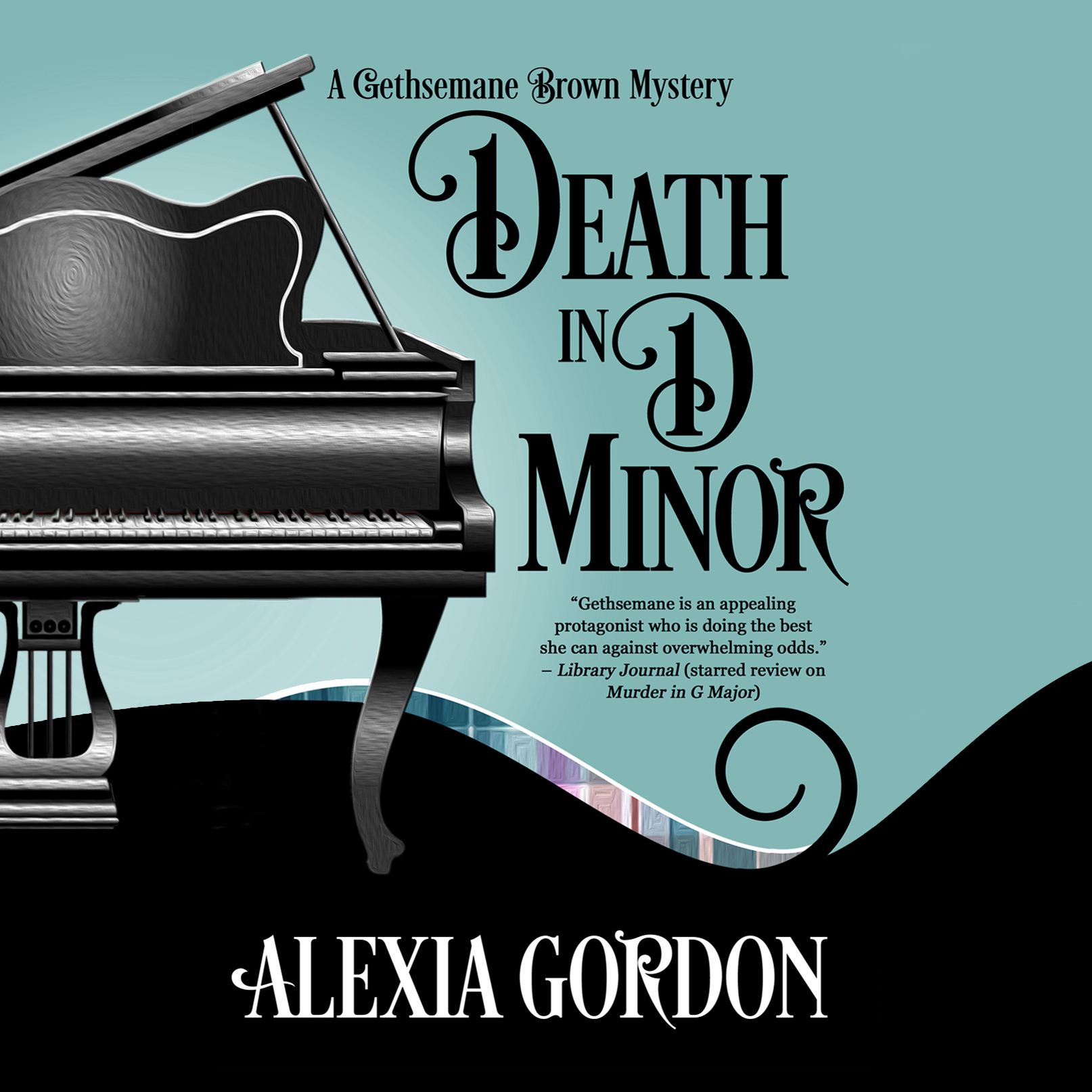 Printable Death in D Minor Audiobook Cover Art