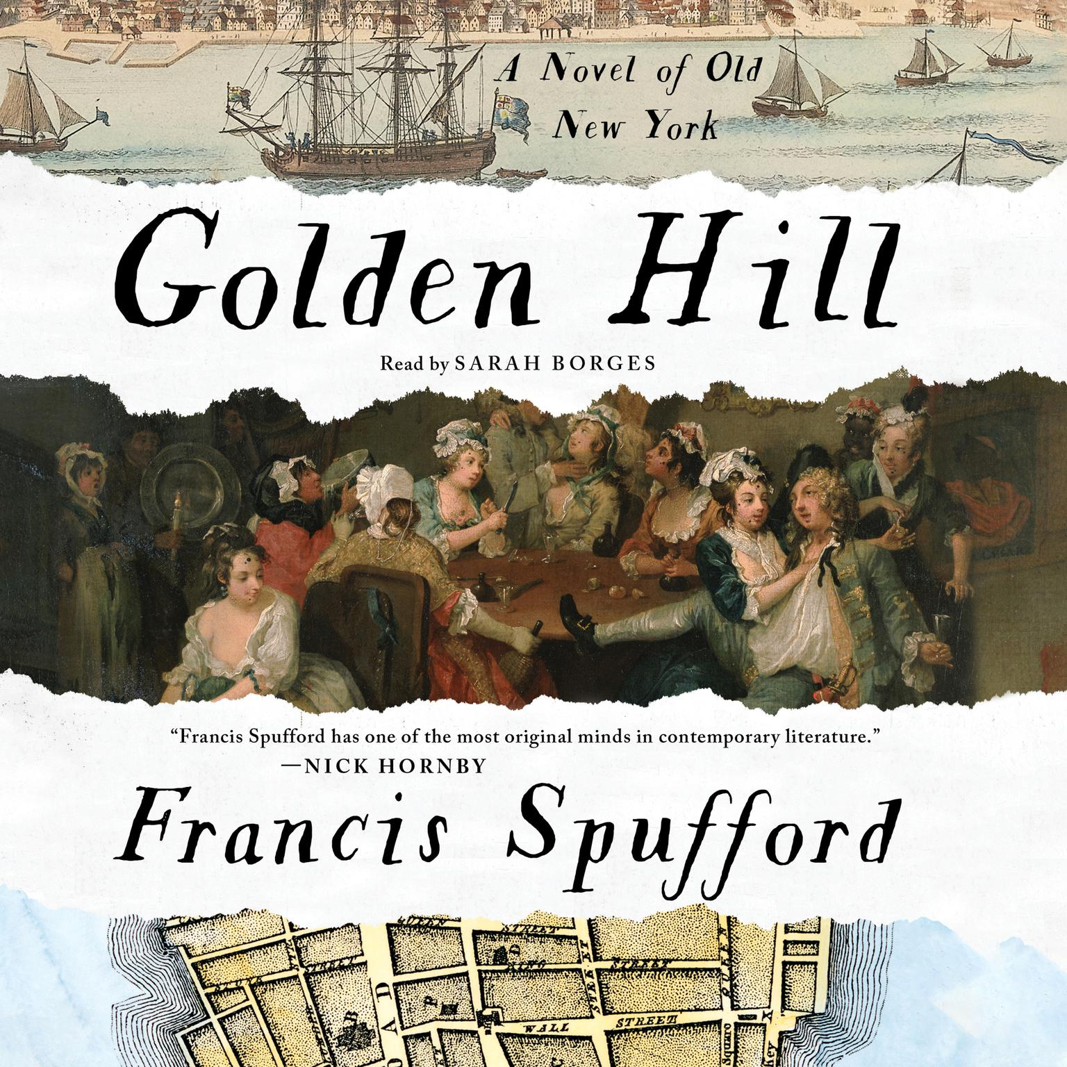 Printable Golden Hill: A Novel of Old New York Audiobook Cover Art