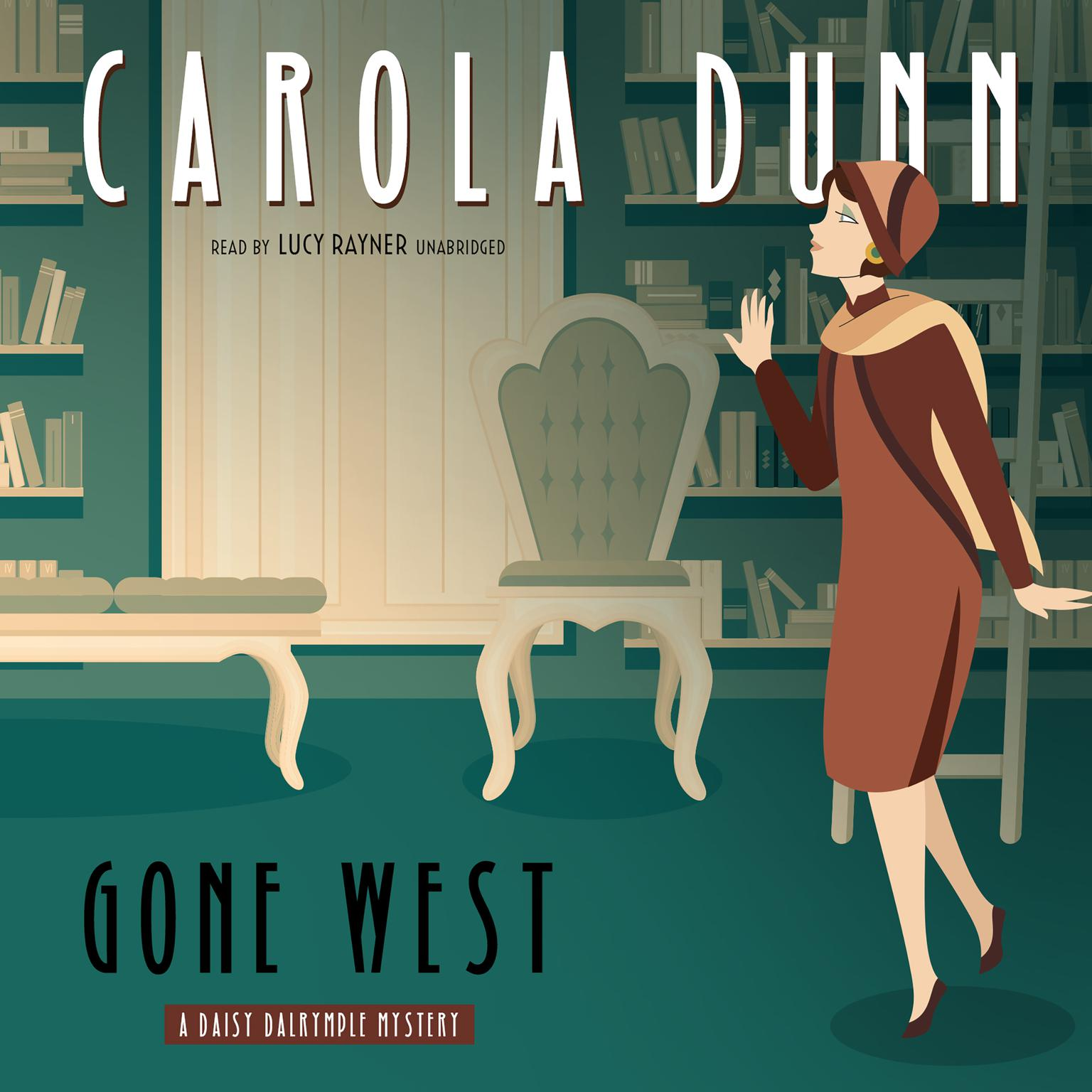 Printable Gone West: A Daisy Dalrymple Mystery Audiobook Cover Art