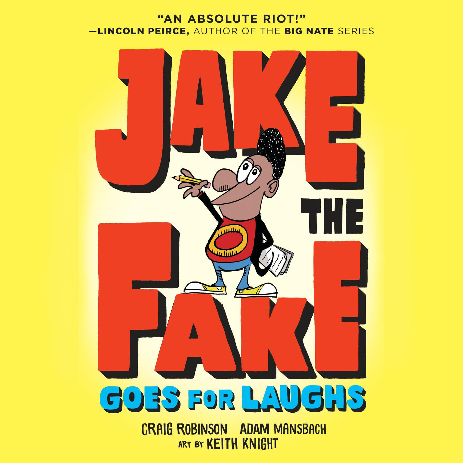 Printable Jake the Fake Goes for Laughs Audiobook Cover Art