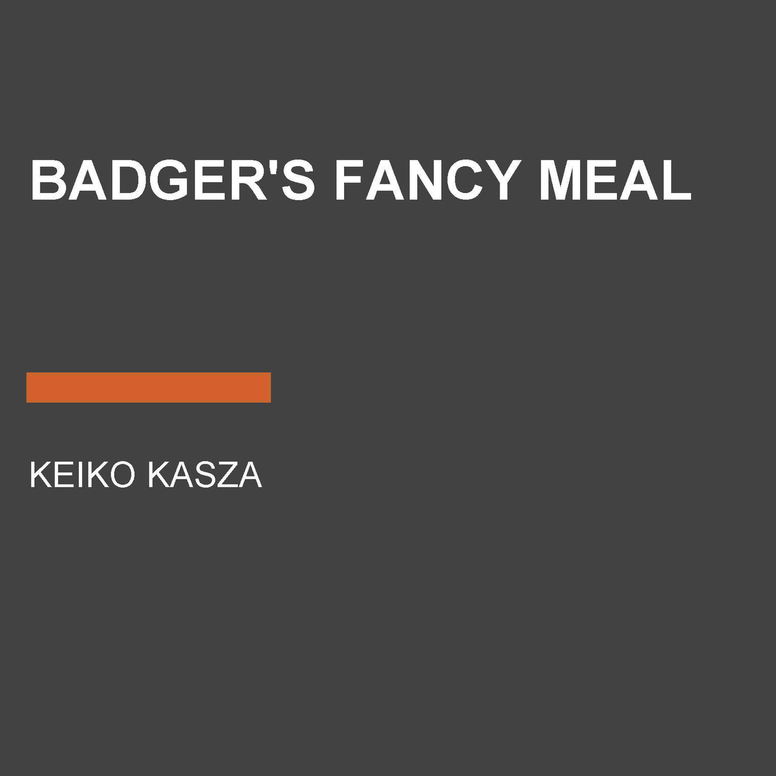 Printable Badger's Fancy Meal Audiobook Cover Art