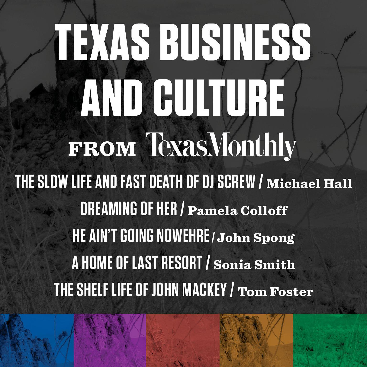 Printable Texas Business and Culture from Texas Monthly Audiobook Cover Art