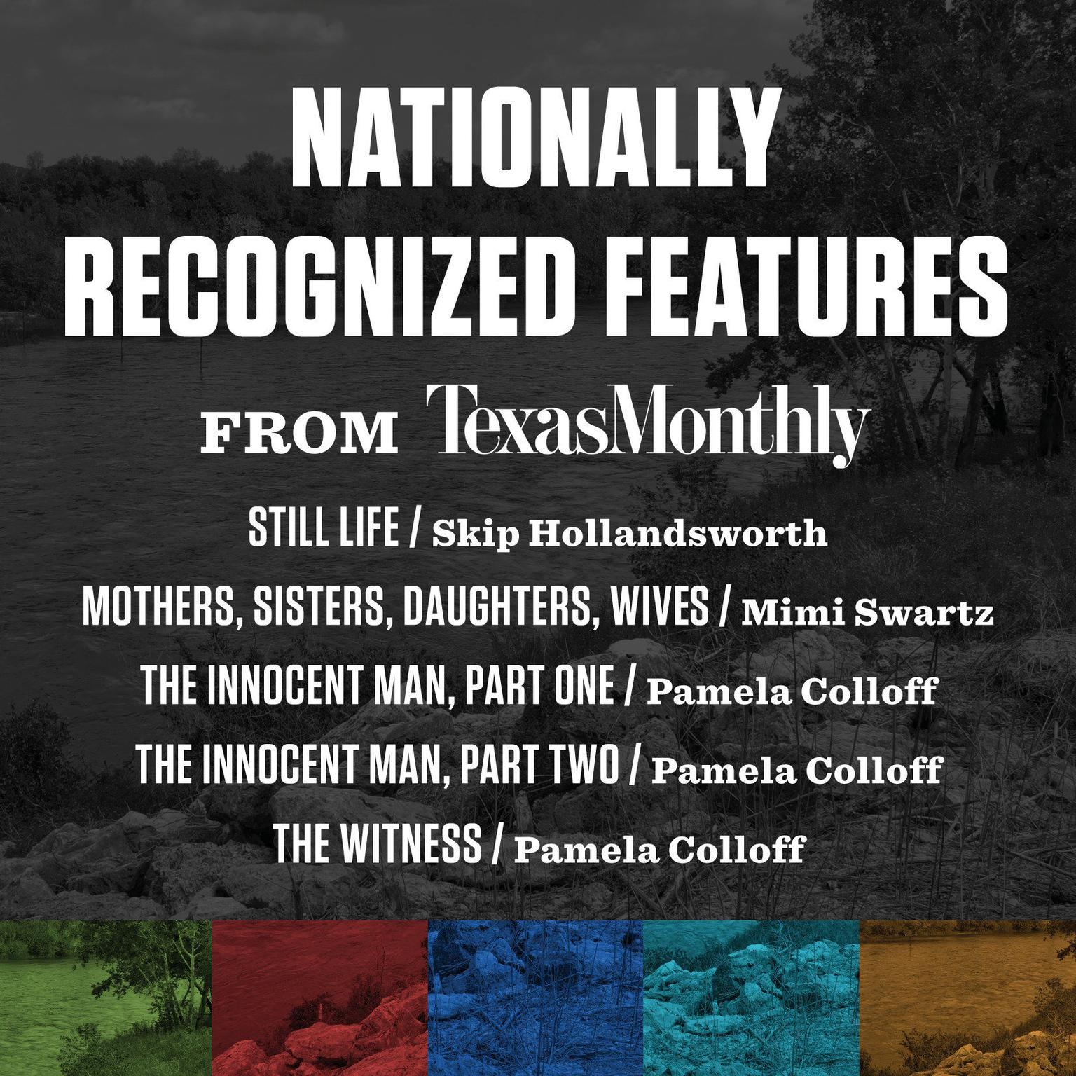 Printable Nationally Recognized Features from Texas Monthly Audiobook Cover Art