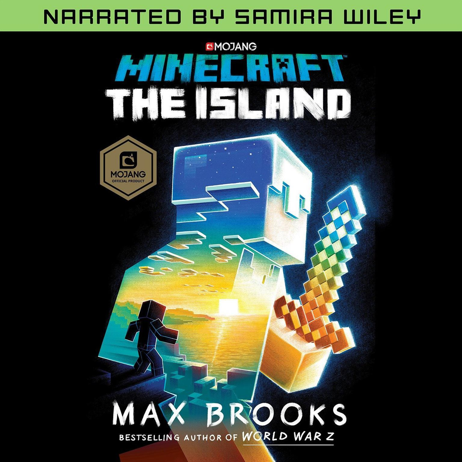 Printable Minecraft: The Island (Narrated by Samira Wiley): A Novel Audiobook Cover Art
