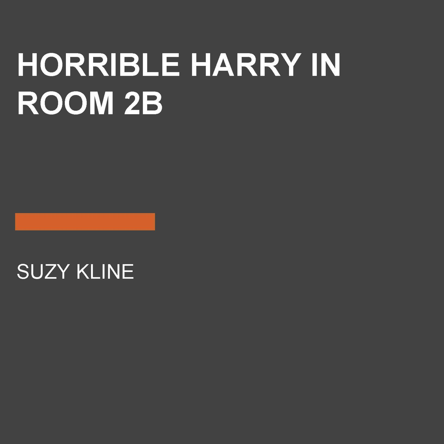 Printable Horrible Harry in Room 2B Audiobook Cover Art