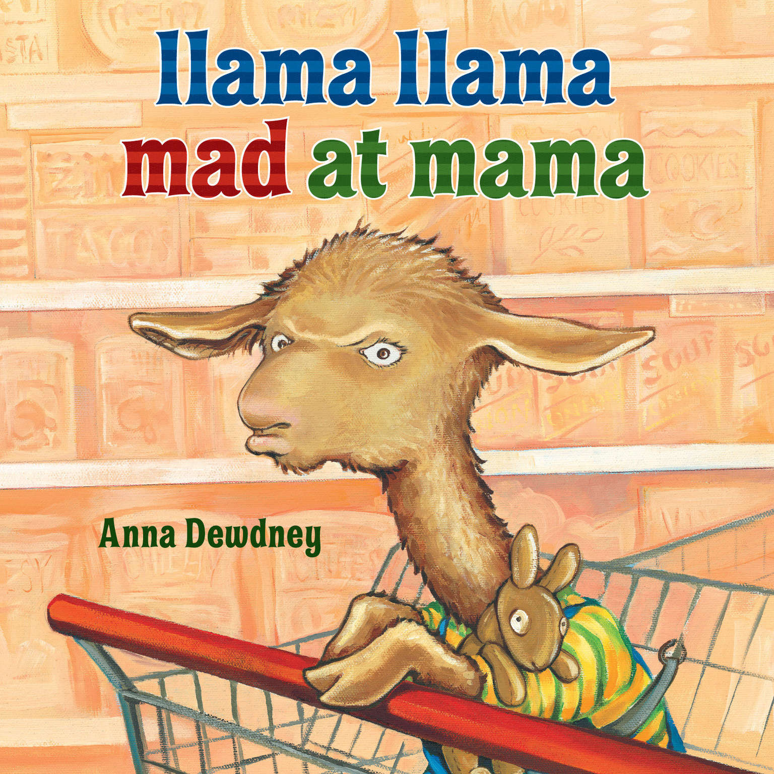 Printable Llama Llama Mad at Mama Audiobook Cover Art